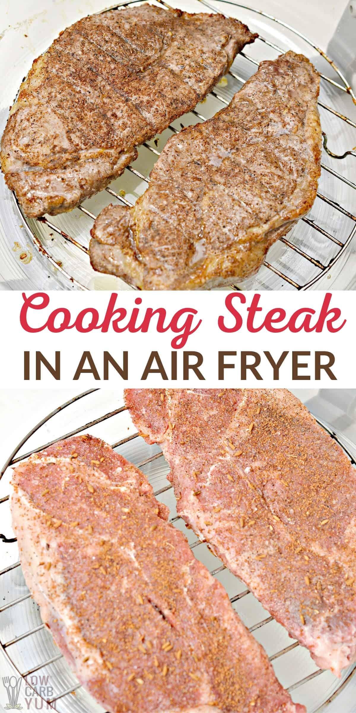cooking steak in air fryer
