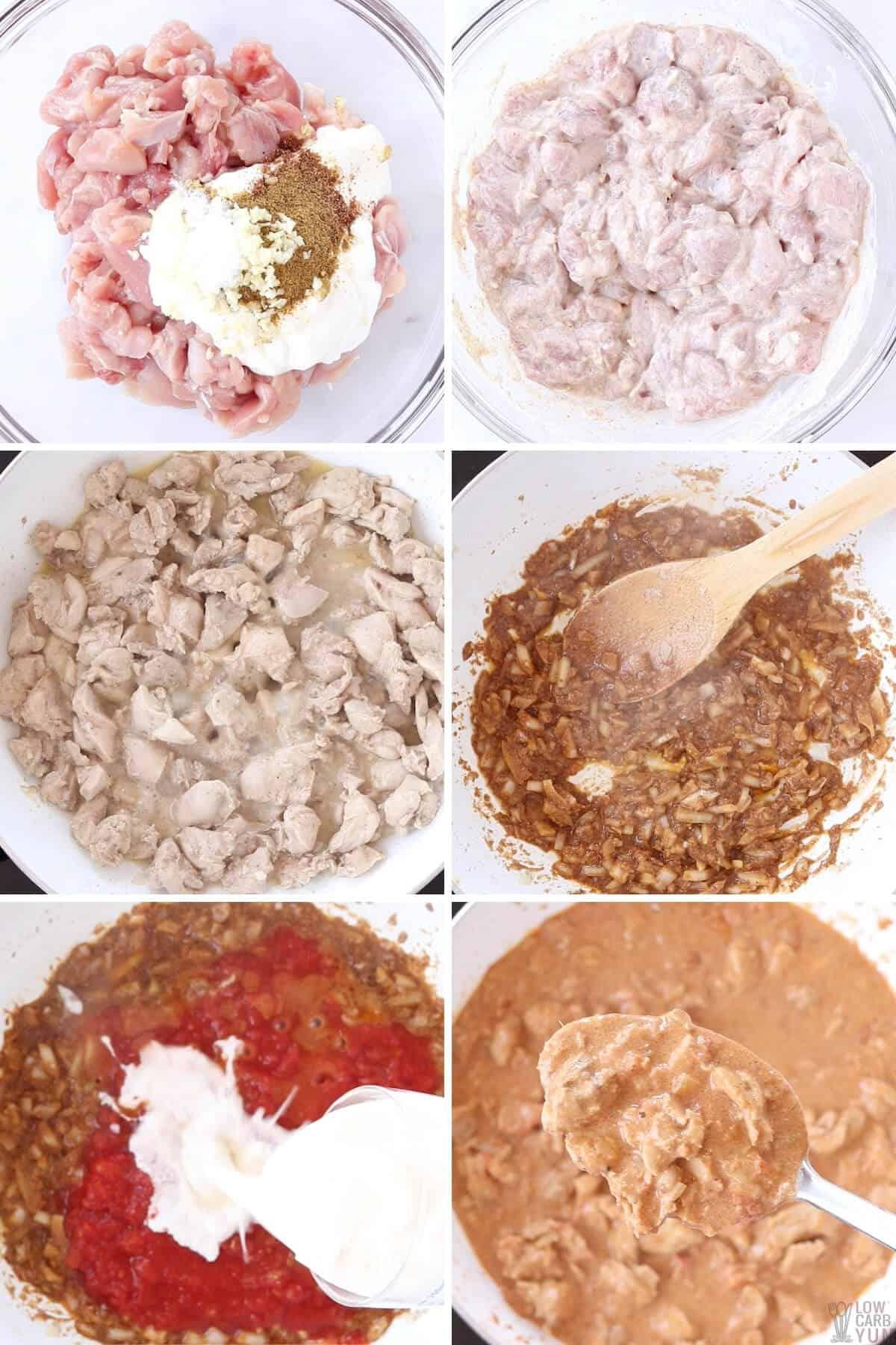steps to make butter chicken