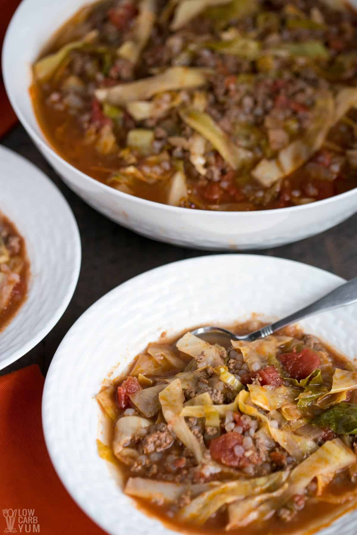 Are you a cabbage roll fan but hate all the work involved to make them? If so, you need to try this easy unstuffed cabbage soup recipe.