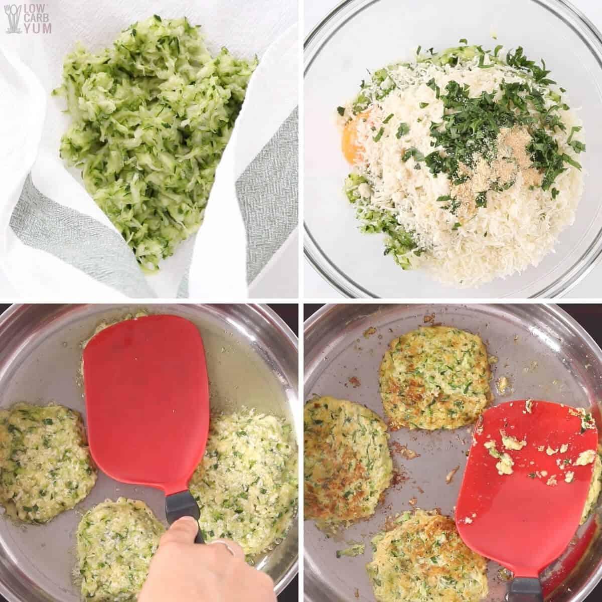 zucchini fritter recipe steps