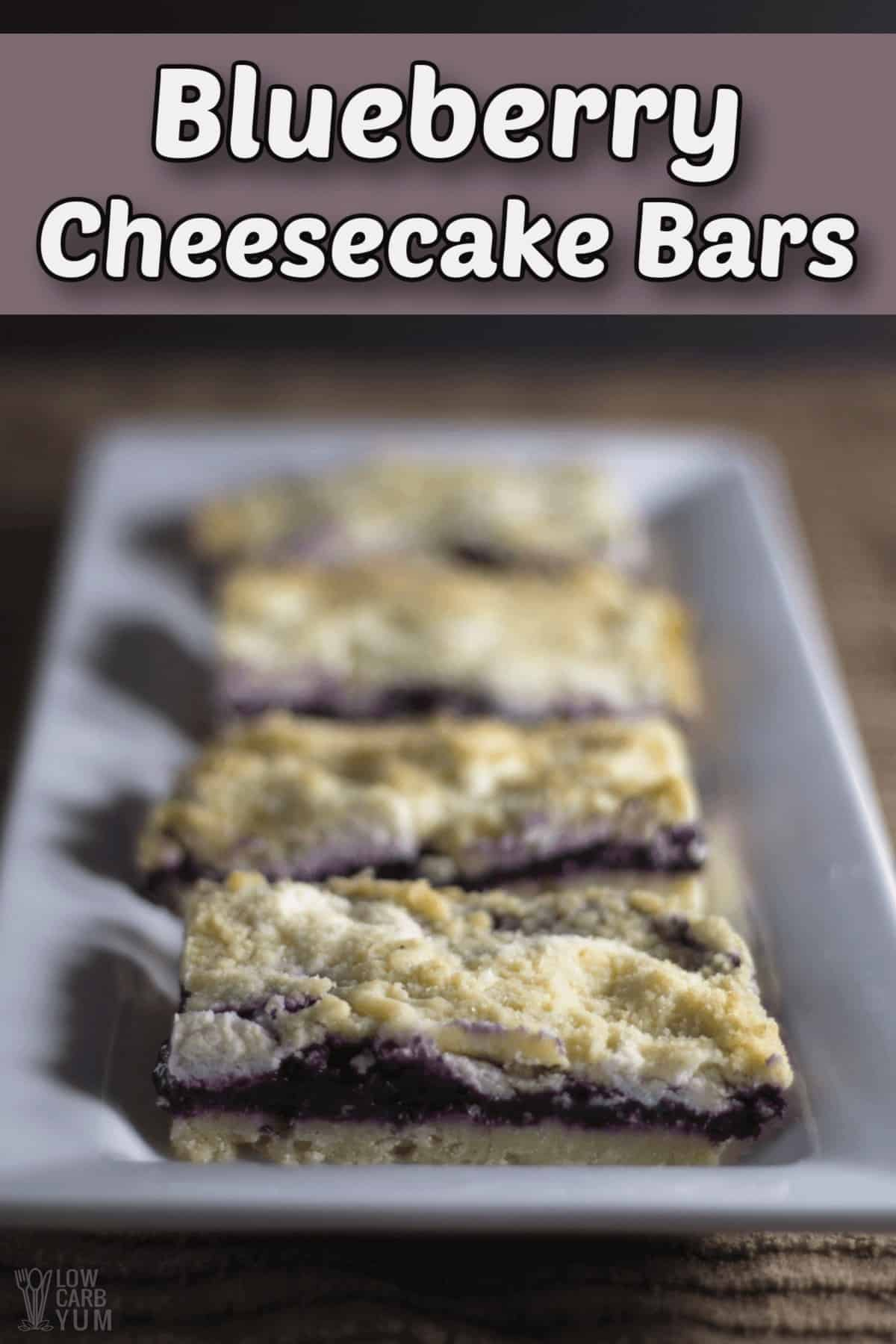 blueberry cheesecake bars with crumb cake topping pintrest image