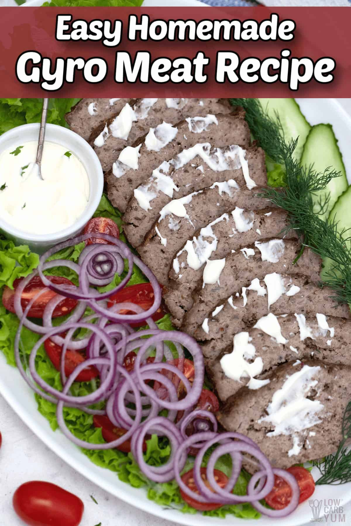 easy homemade gyro meat recipe pintrest image