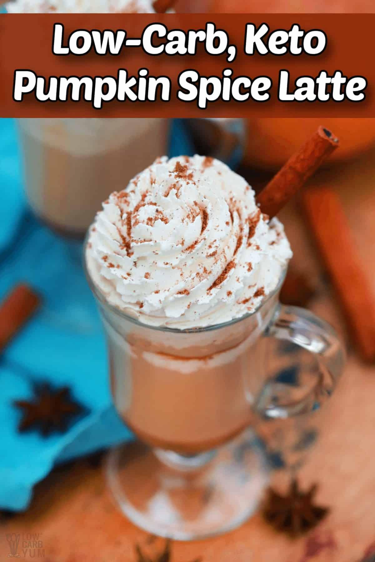 keto pumpkin spice latte coffee recipe pintrest image