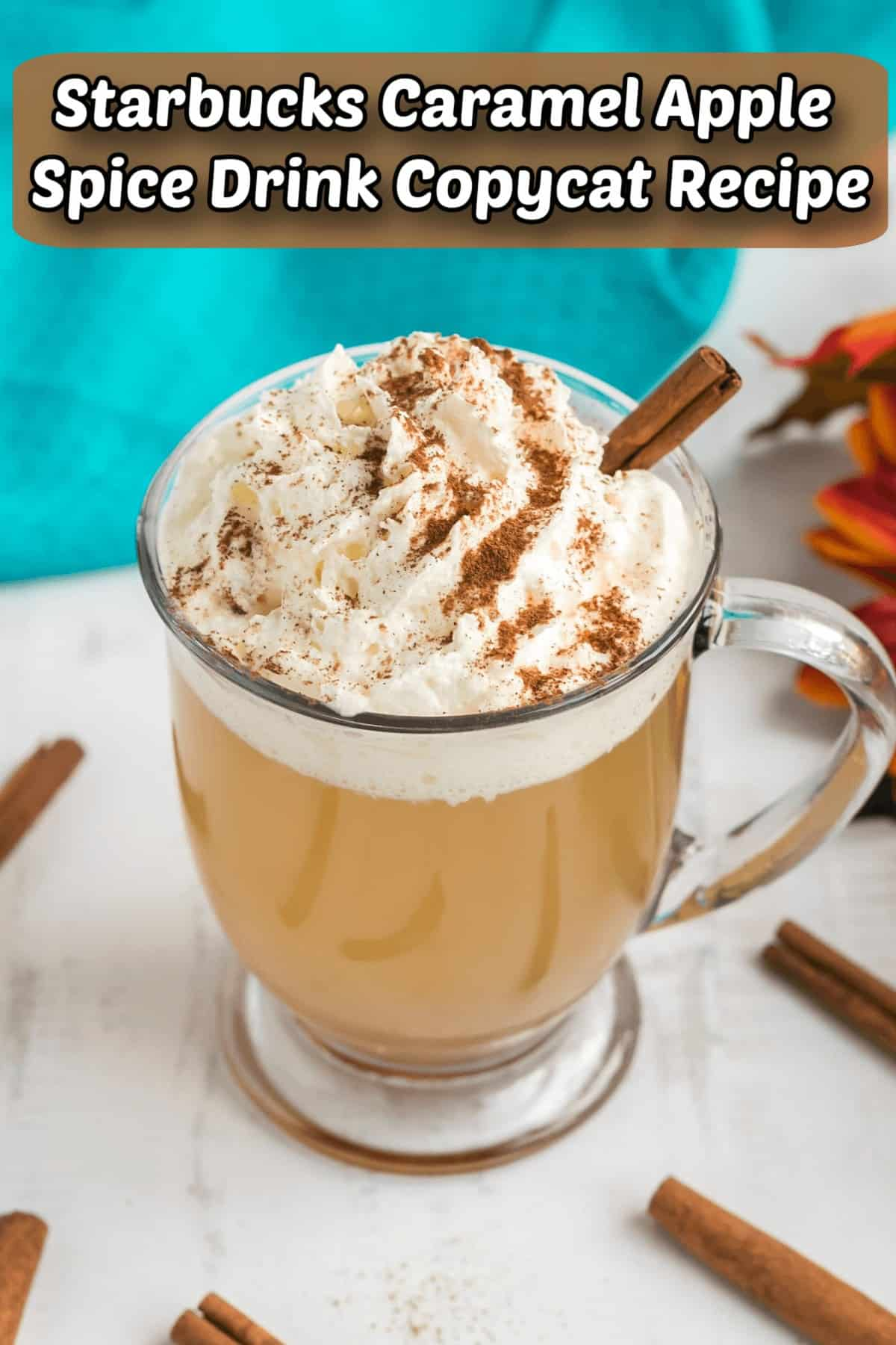 Starbucks Caramel Apple Spice Drink Copycat Recipe Pintrest Image