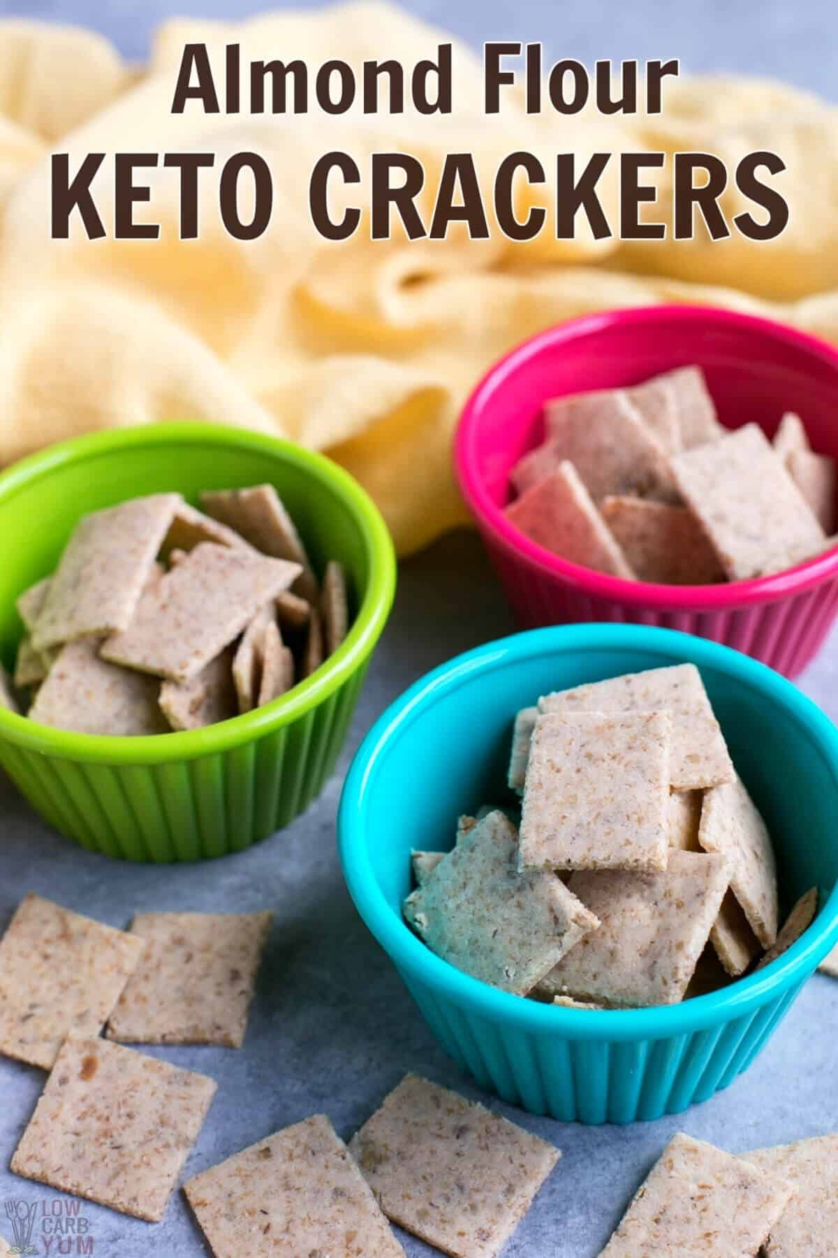 almond flour keto crackers in cups