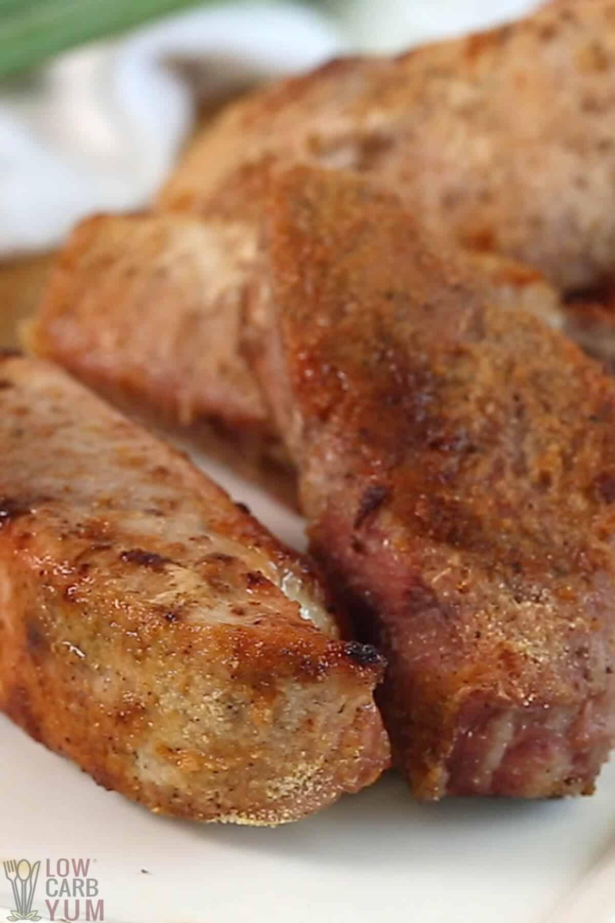 seasoned baked boneless pork ribs