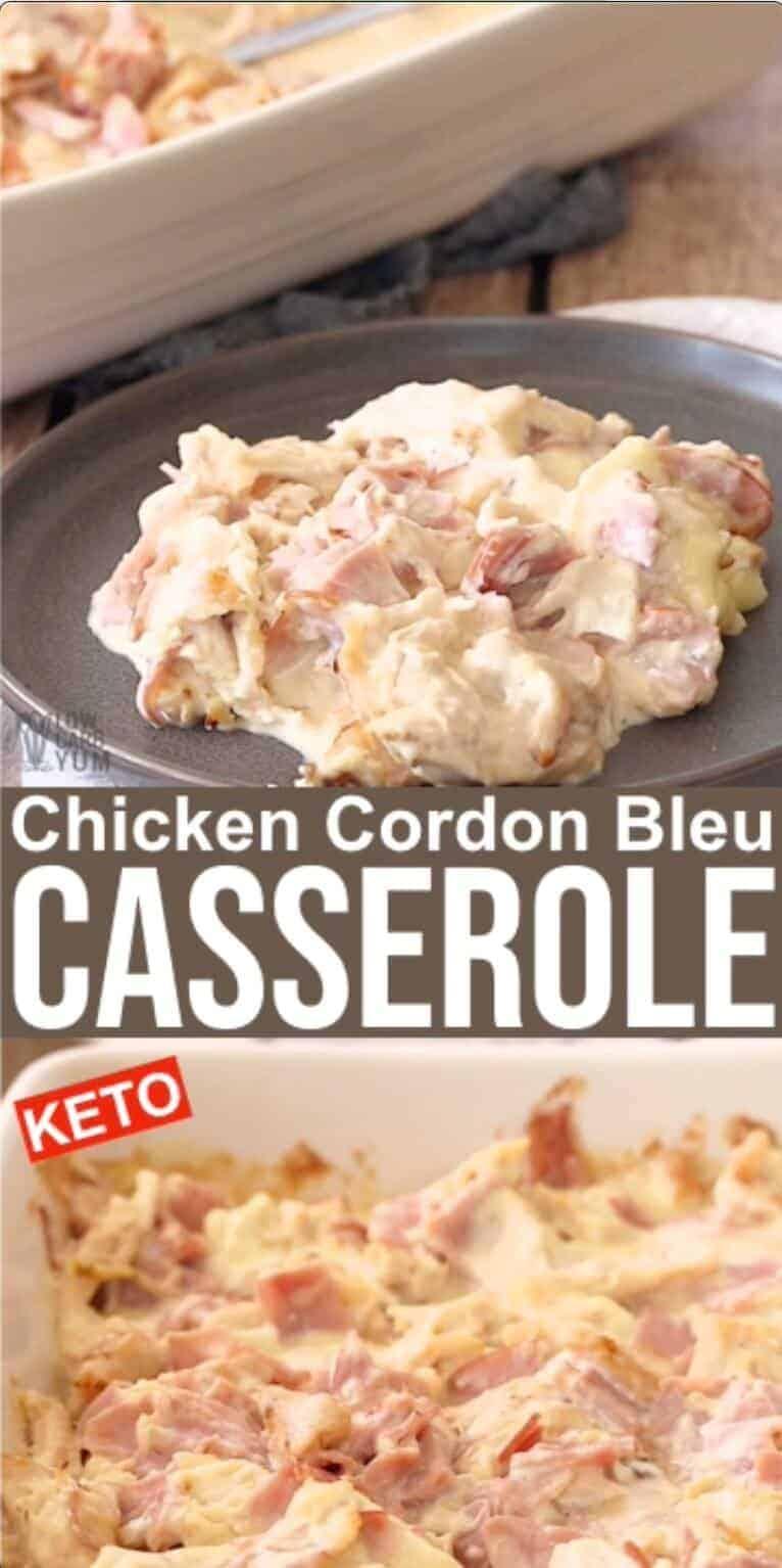 chicken cordon bleu casserole pinterest image