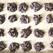chocolate peanut clusters recipe featured image
