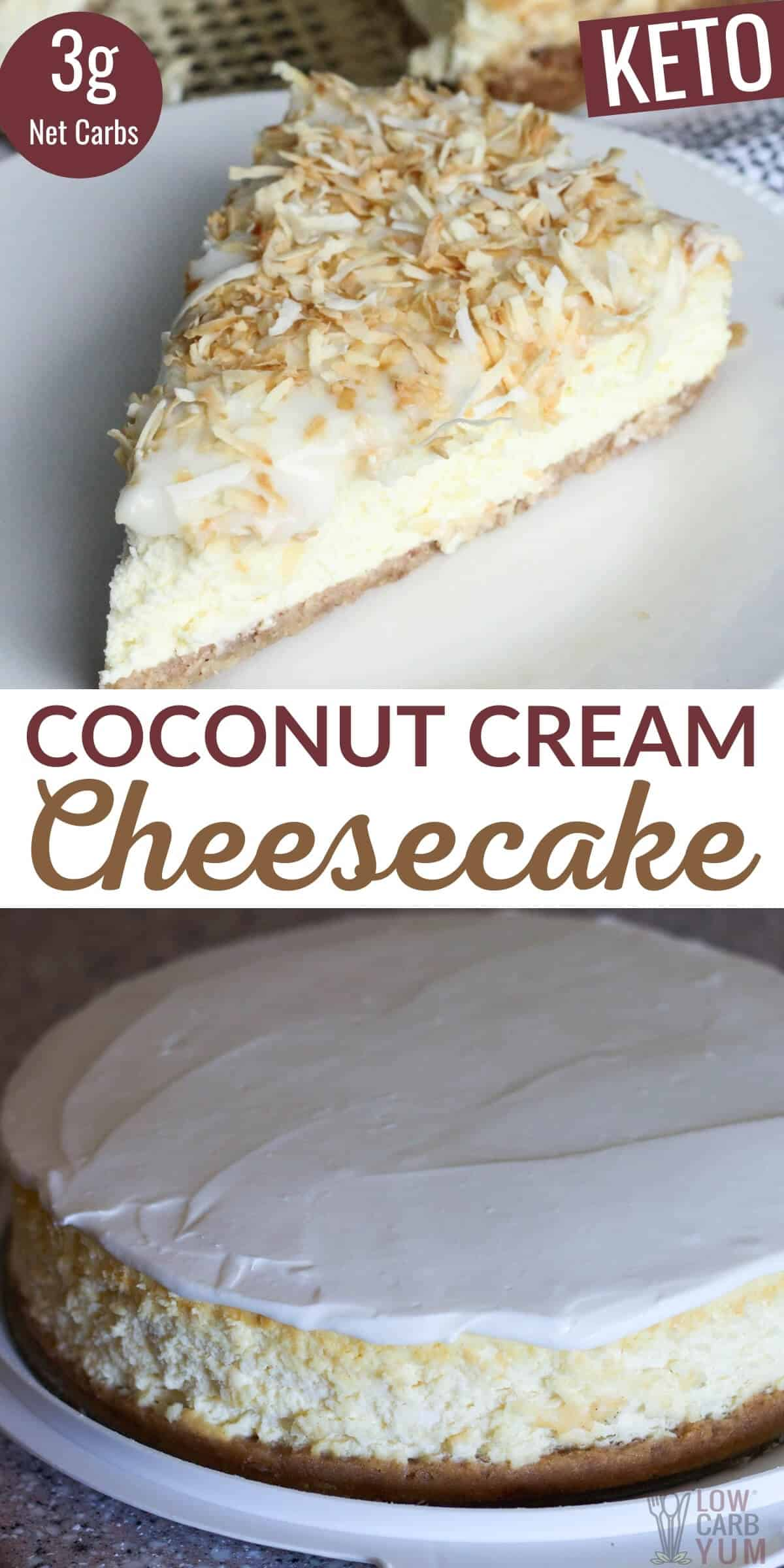 coconut cream cheesecake pinterest image