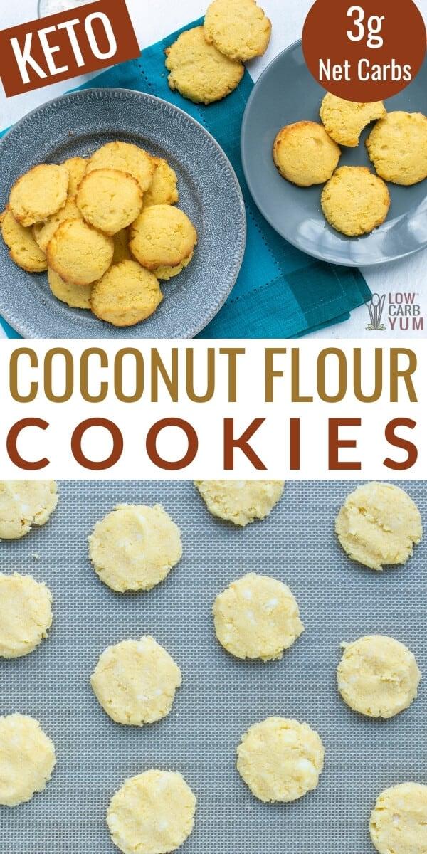 coconut flour cookies pinterest image