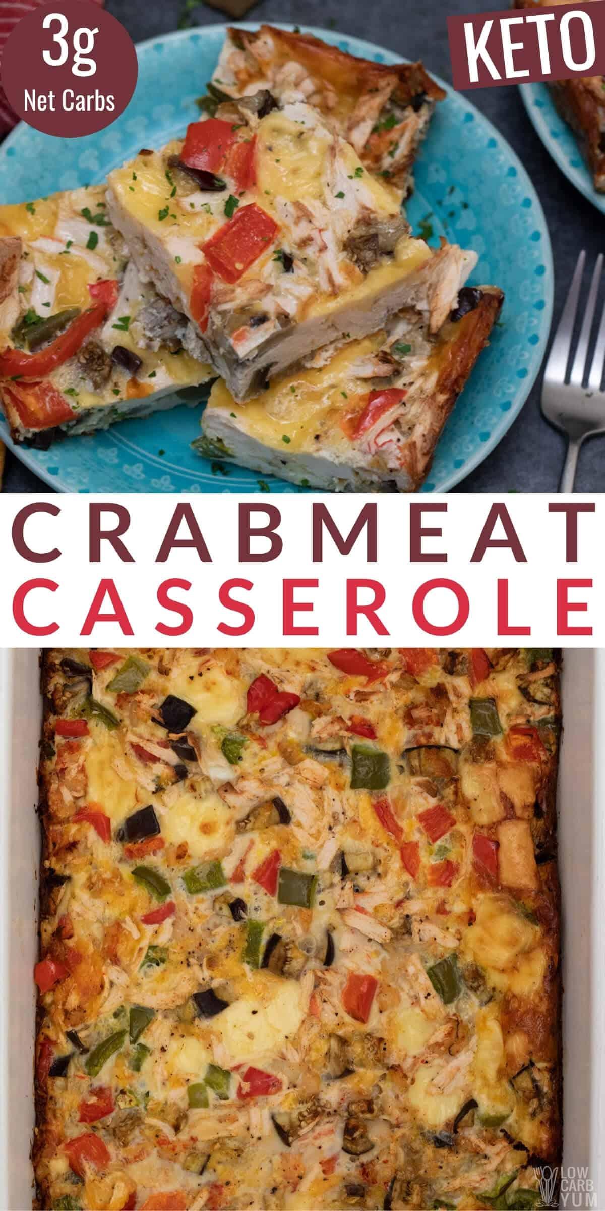 crab meat casserole pinterest image