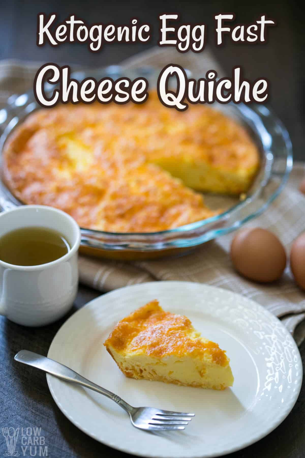 crustless ketogenic egg fast quiche pinterest image
