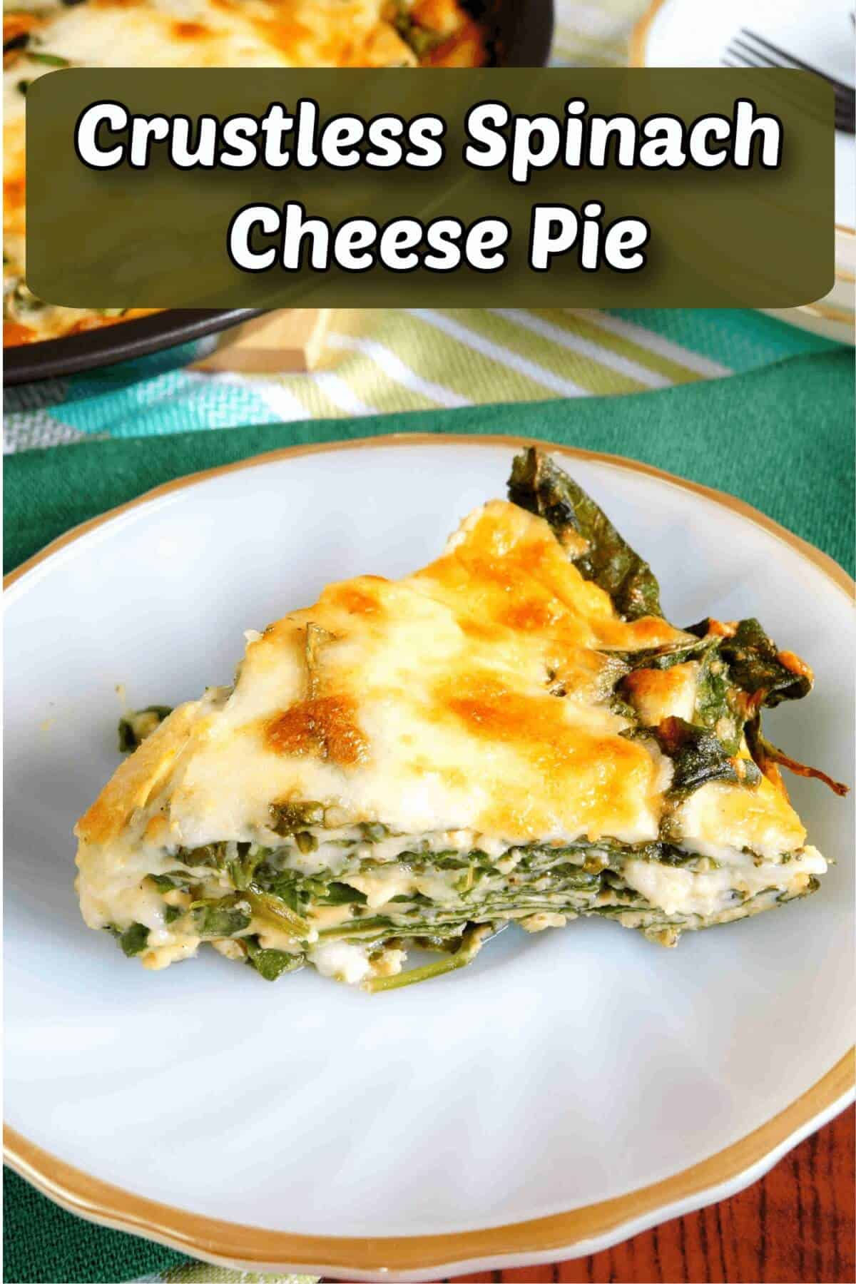 crustless spinach cheese pie recipe cover image