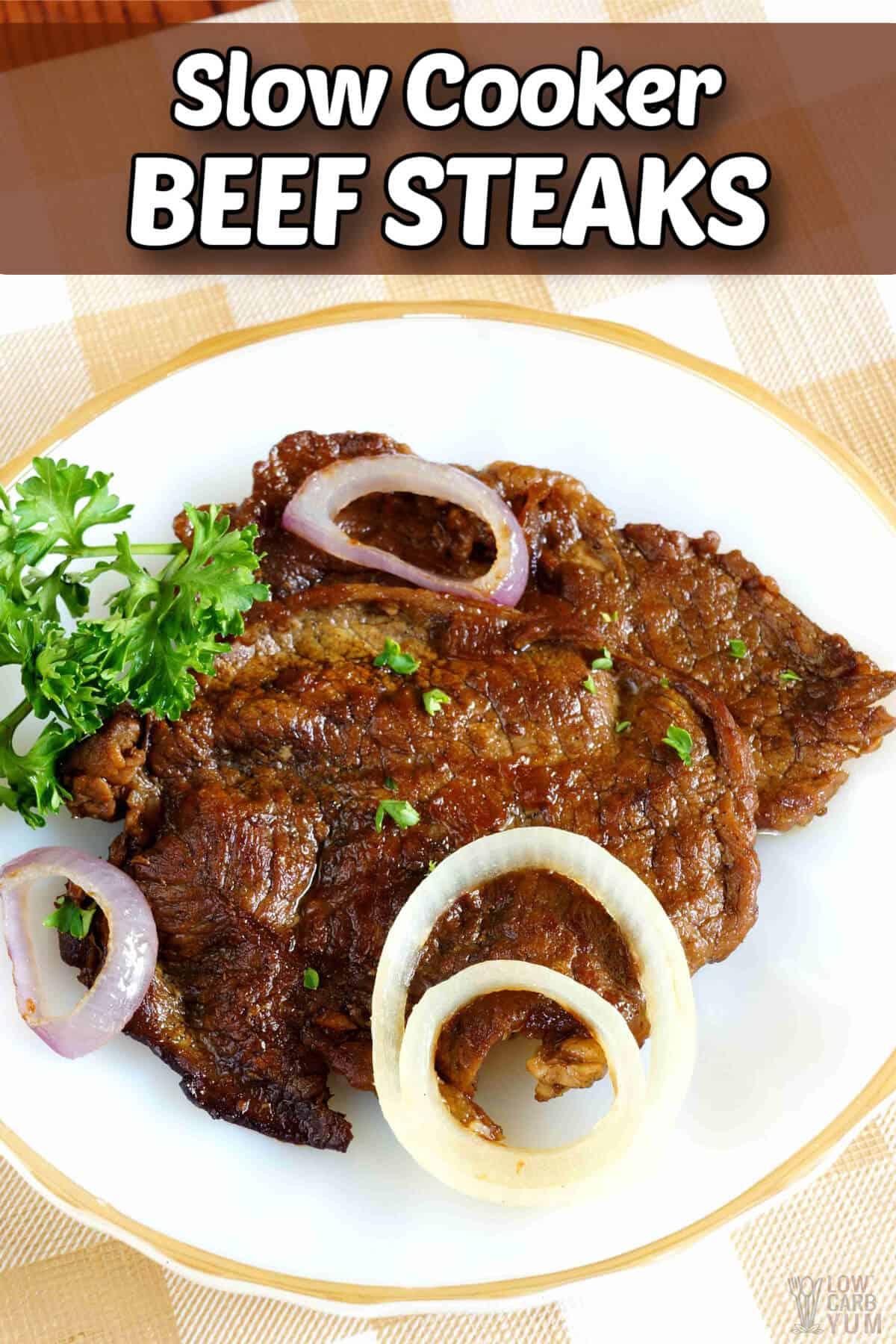 slow cooker filipino beef steaks pinterest image