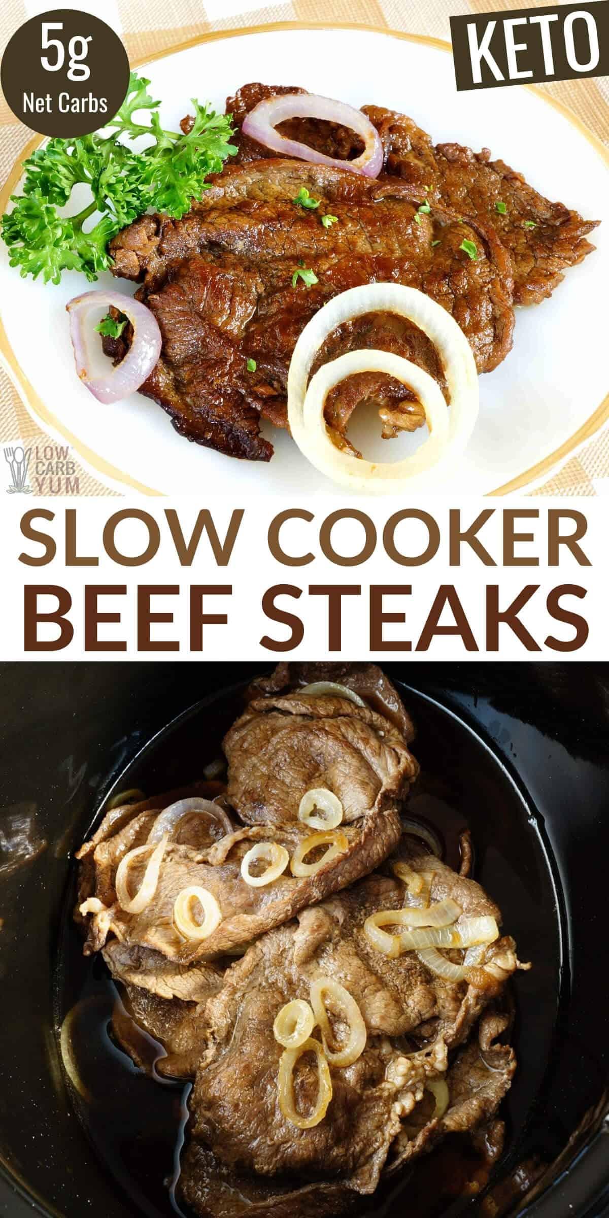 slow cooker beef steaks pinterest image