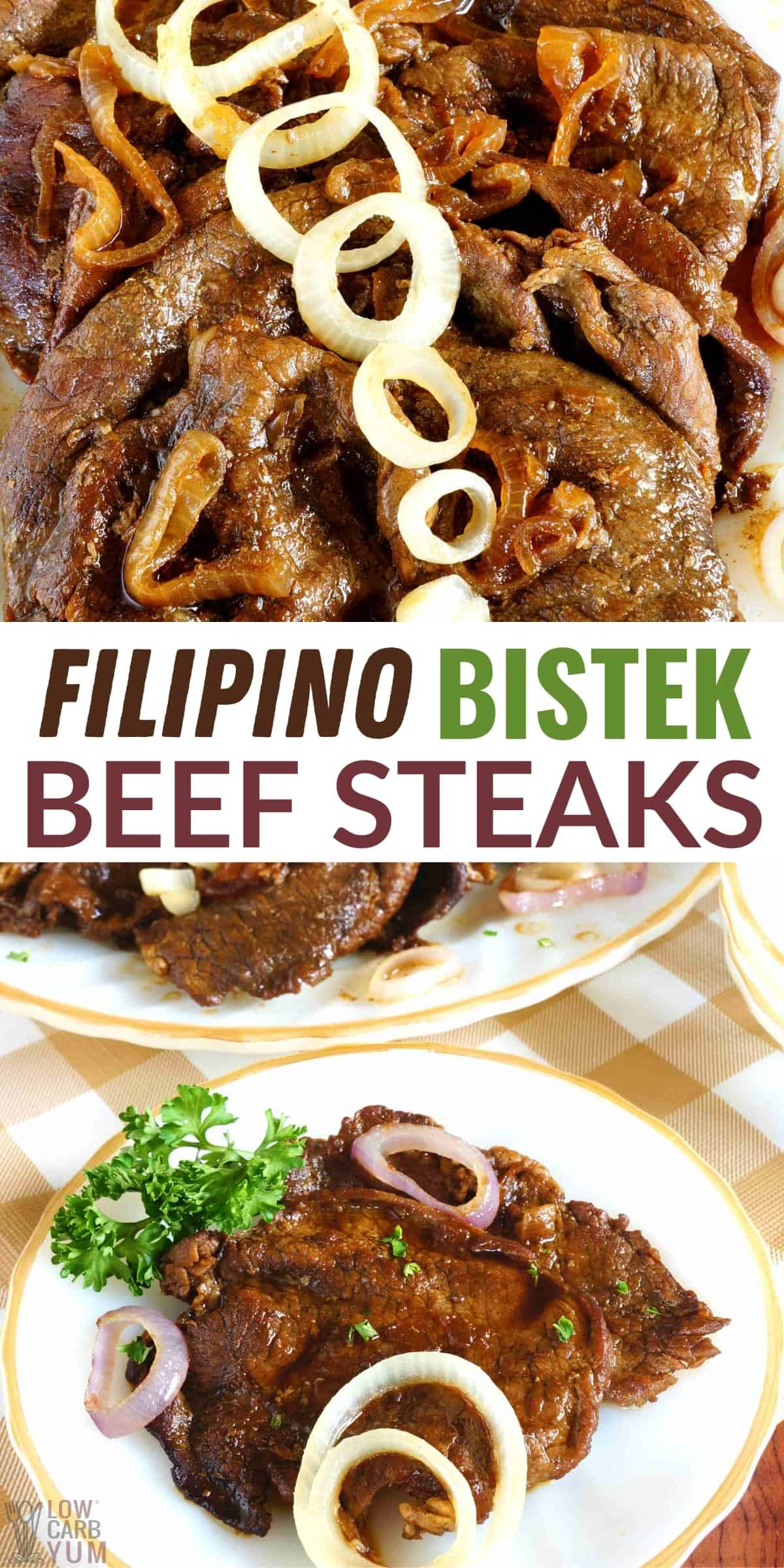filipino bistek beef steaks pinterest image