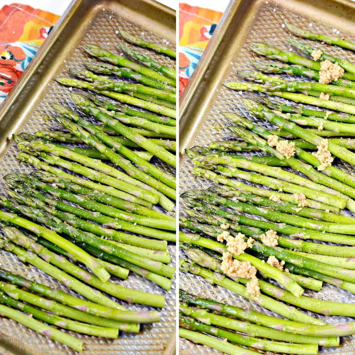 how to roast asparagus in oven with garlic