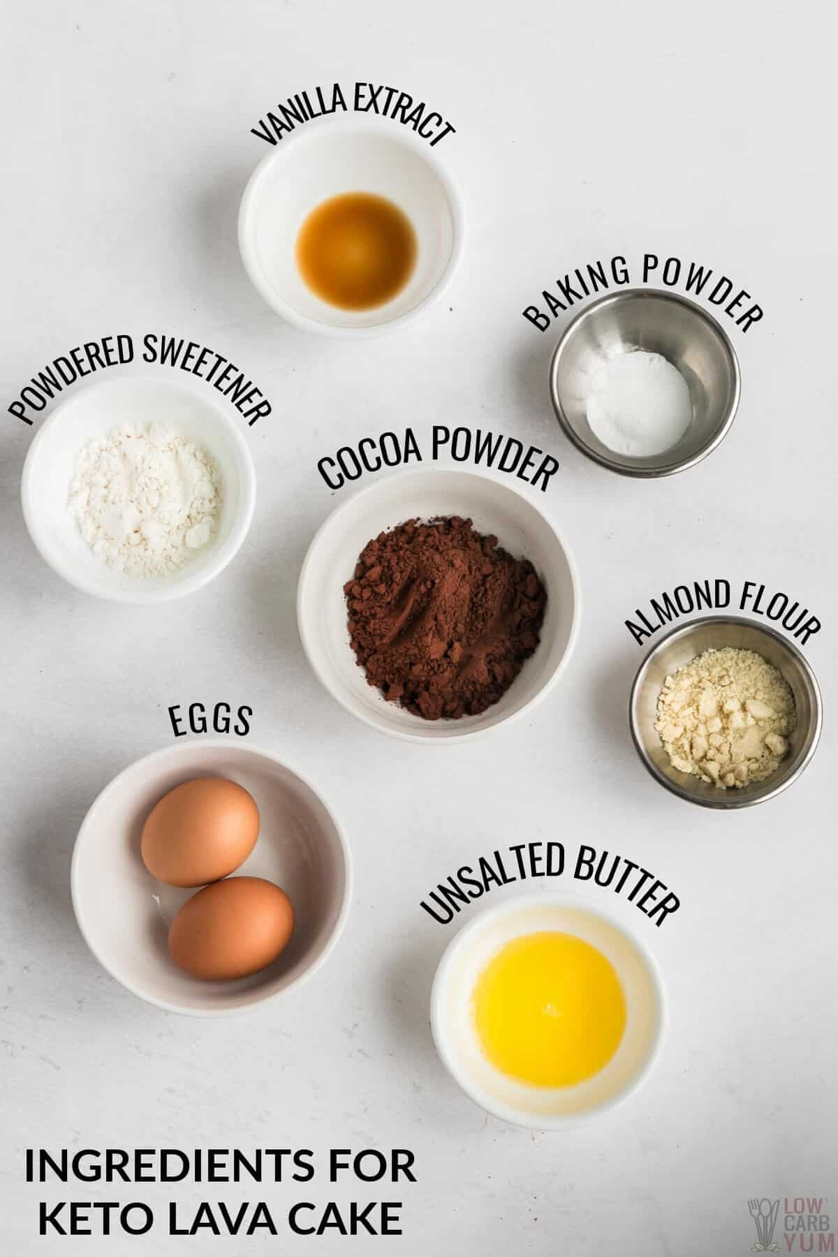 ingredients for the cakes