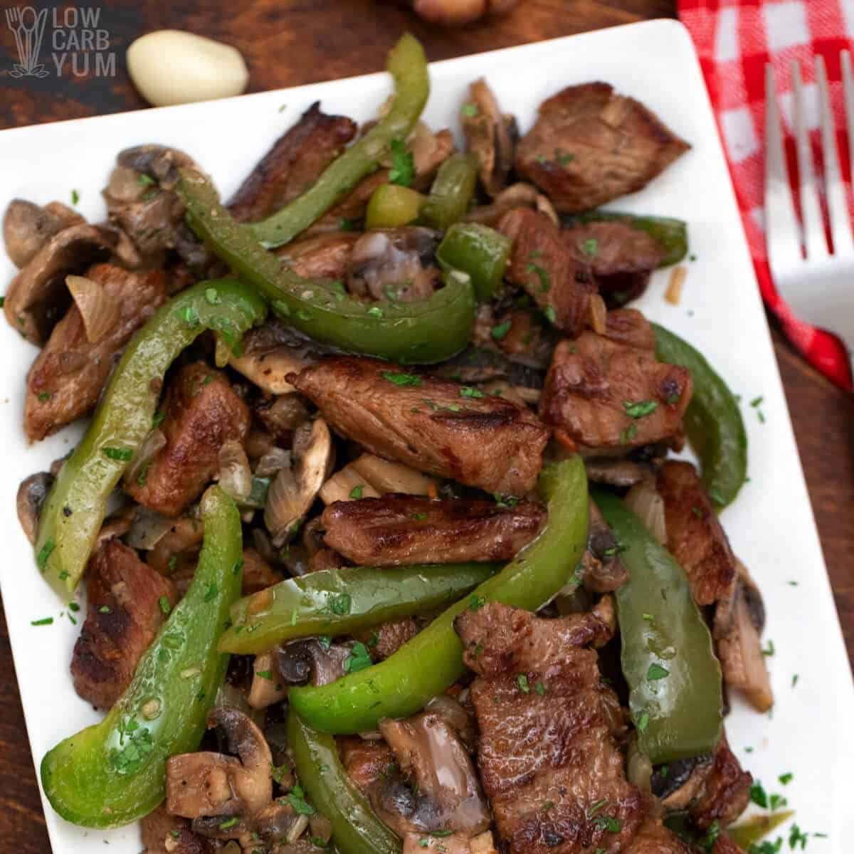 keto pepper steak recipe