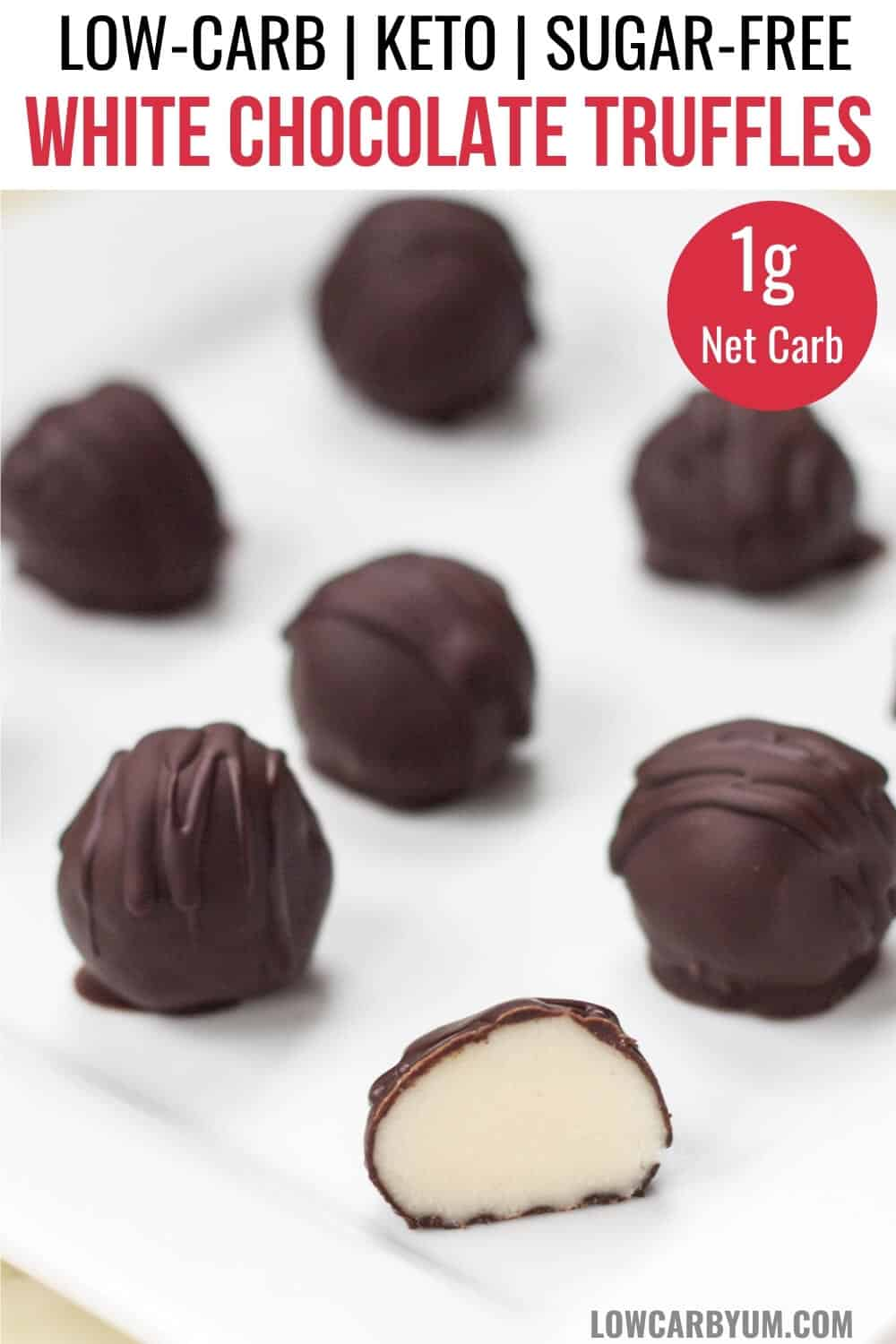 keto white chocolate truffles pinterest image