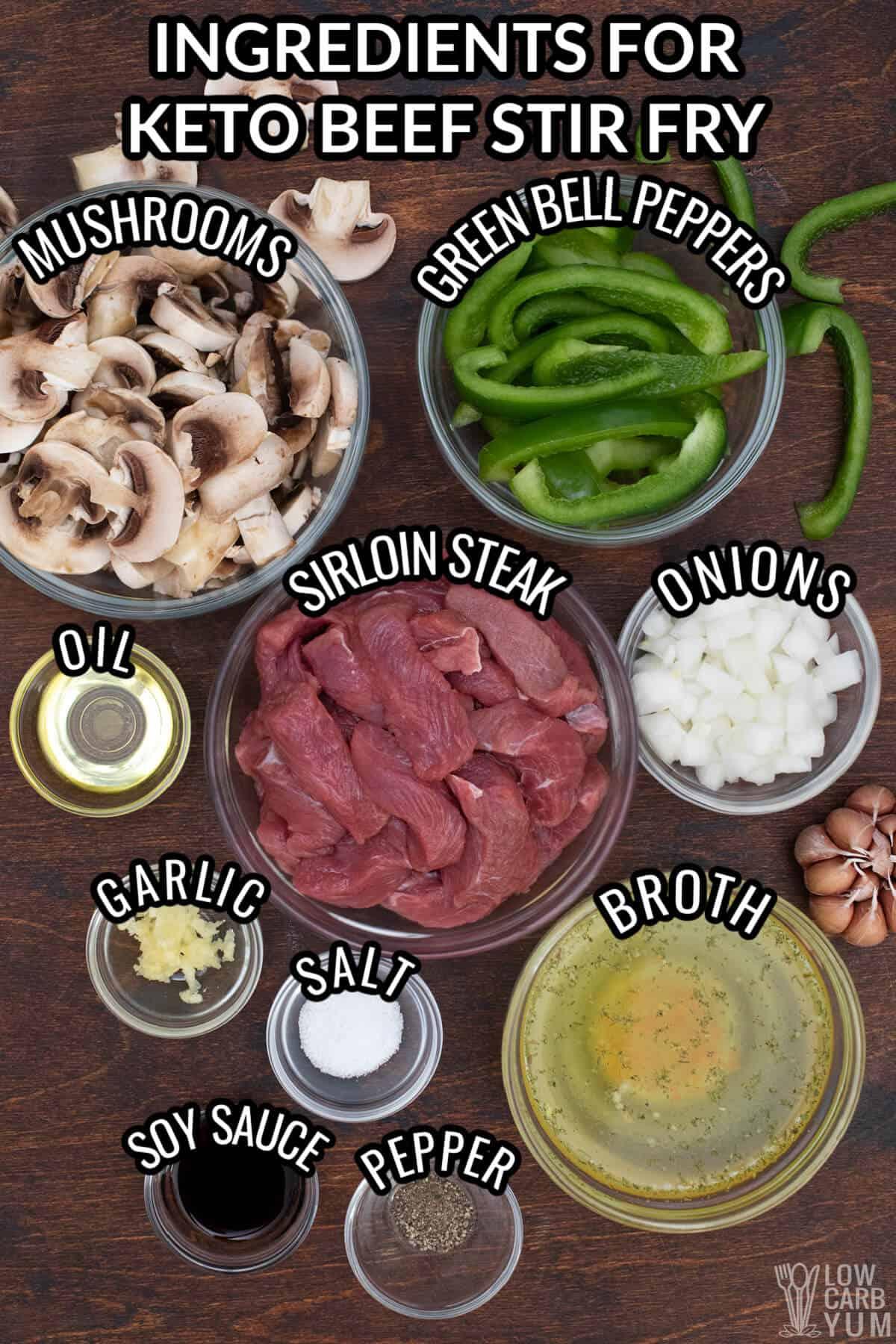 low carb beef stir fry ingredients