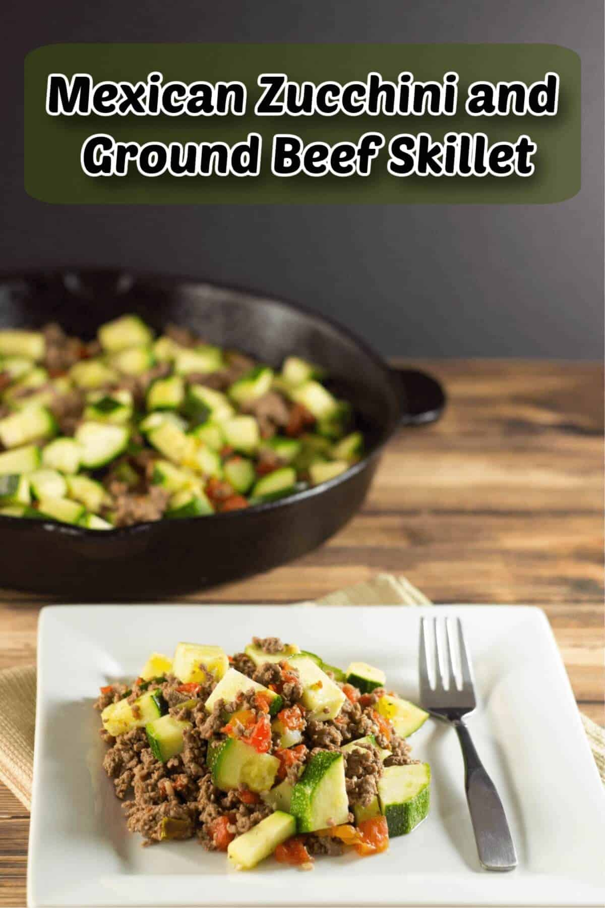 mexican zucchini ground beef skillet cover image