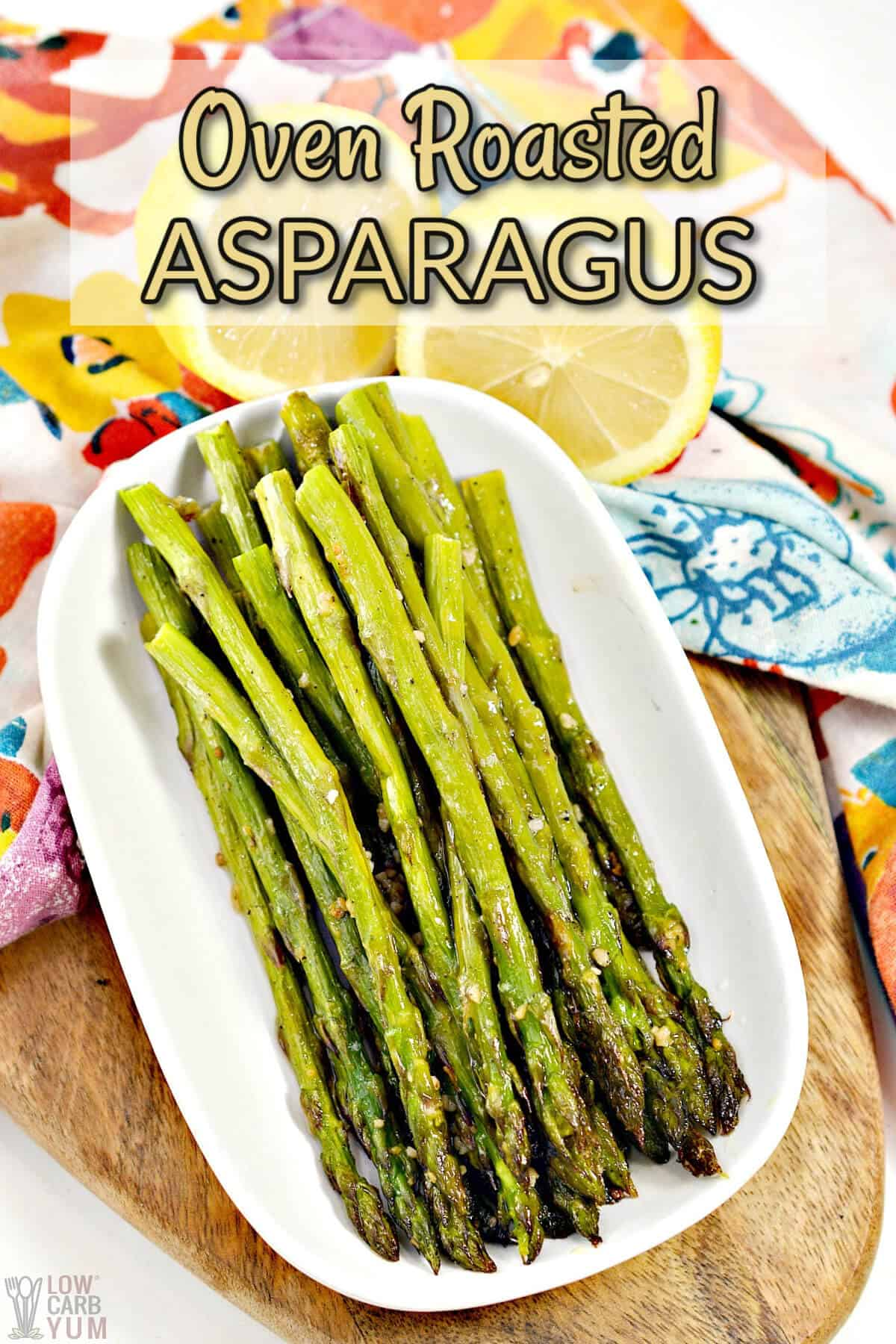 oven roasted asparagus pinterest image