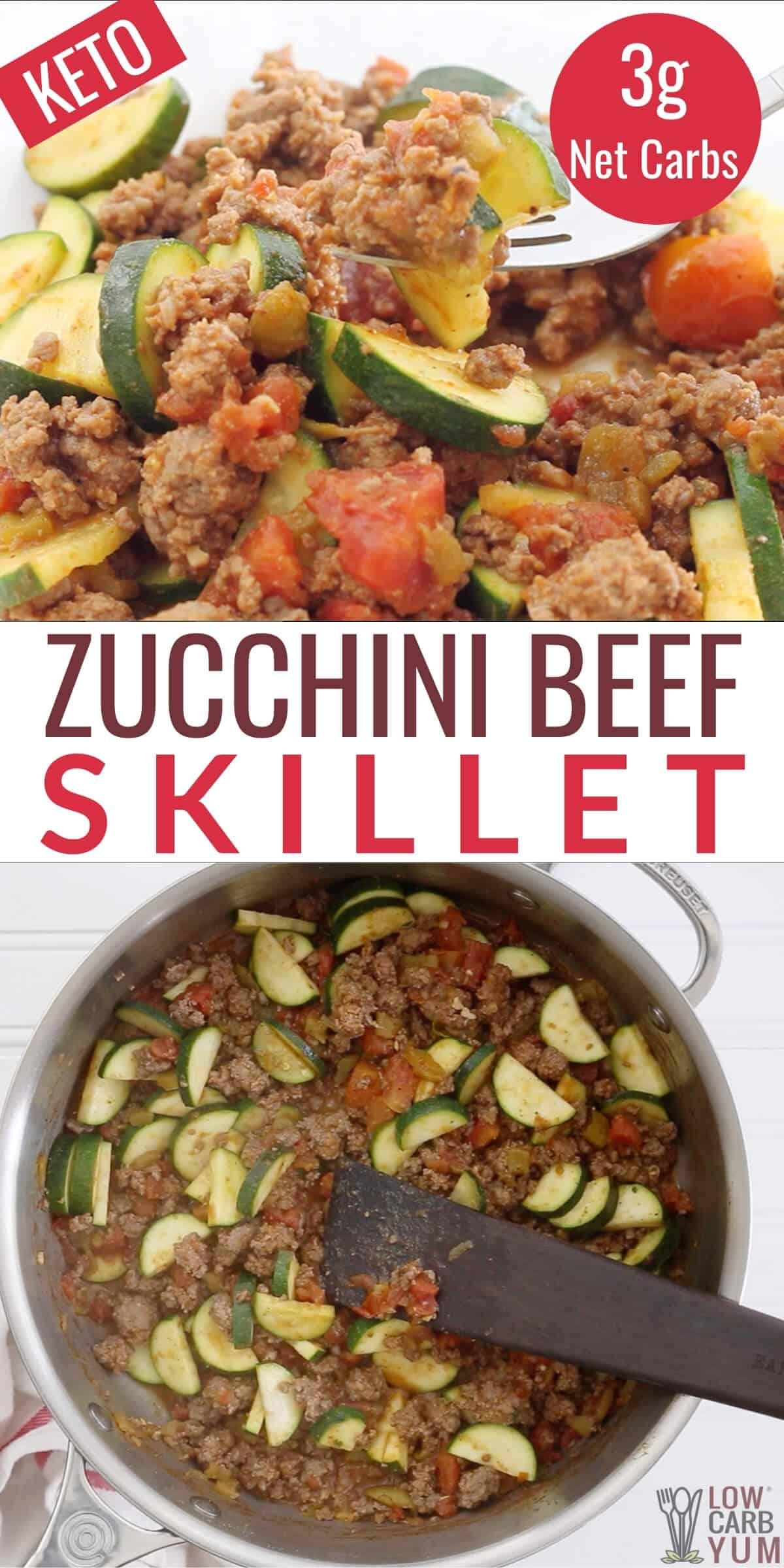 zucchini beef skillet pinterest image