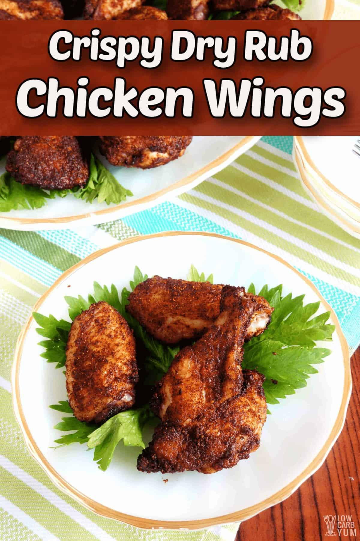 crispy dry rub chicken wings recipe pintrest image
