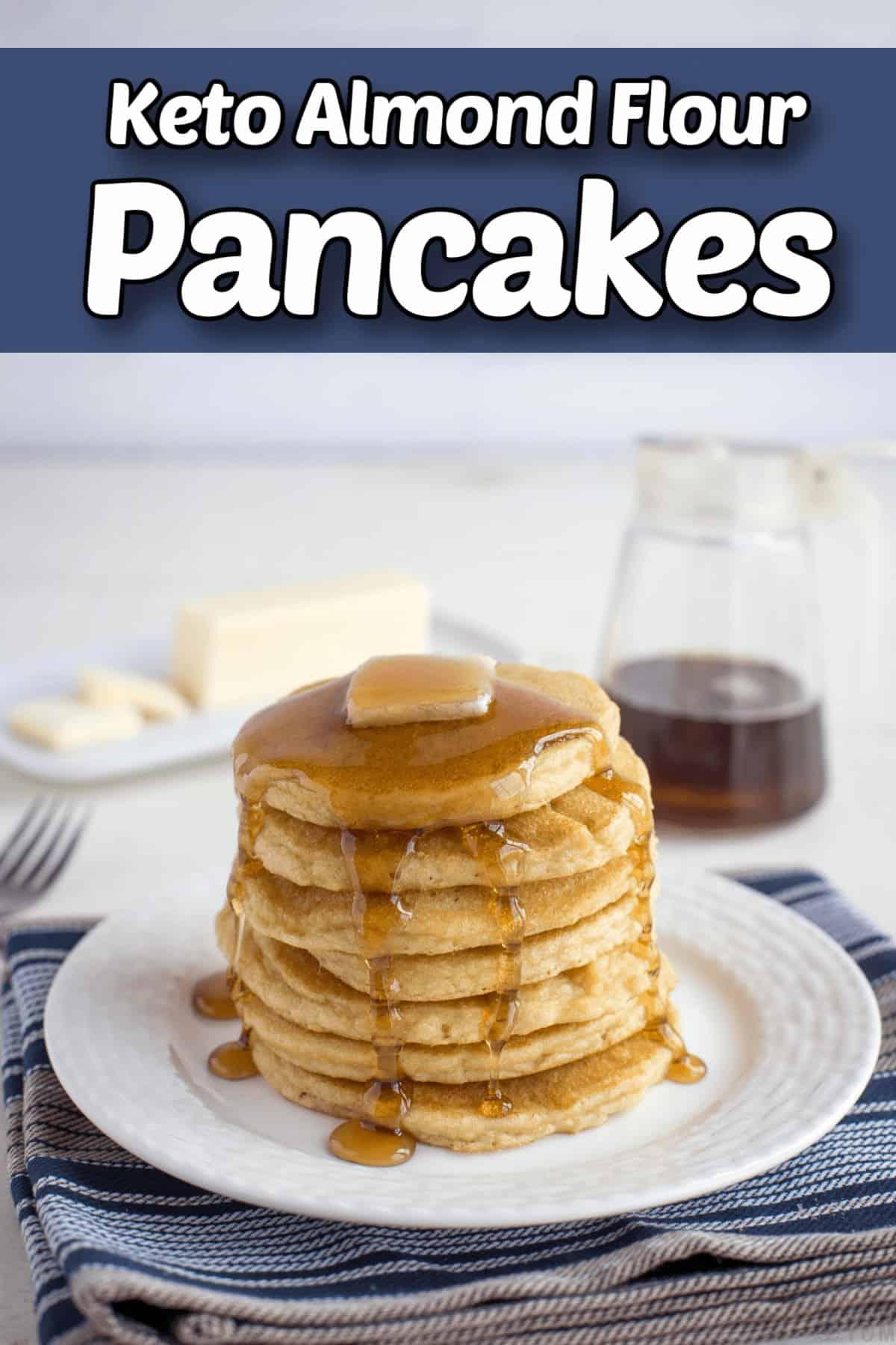 almond flour pancakes keto gluten free pintrest image