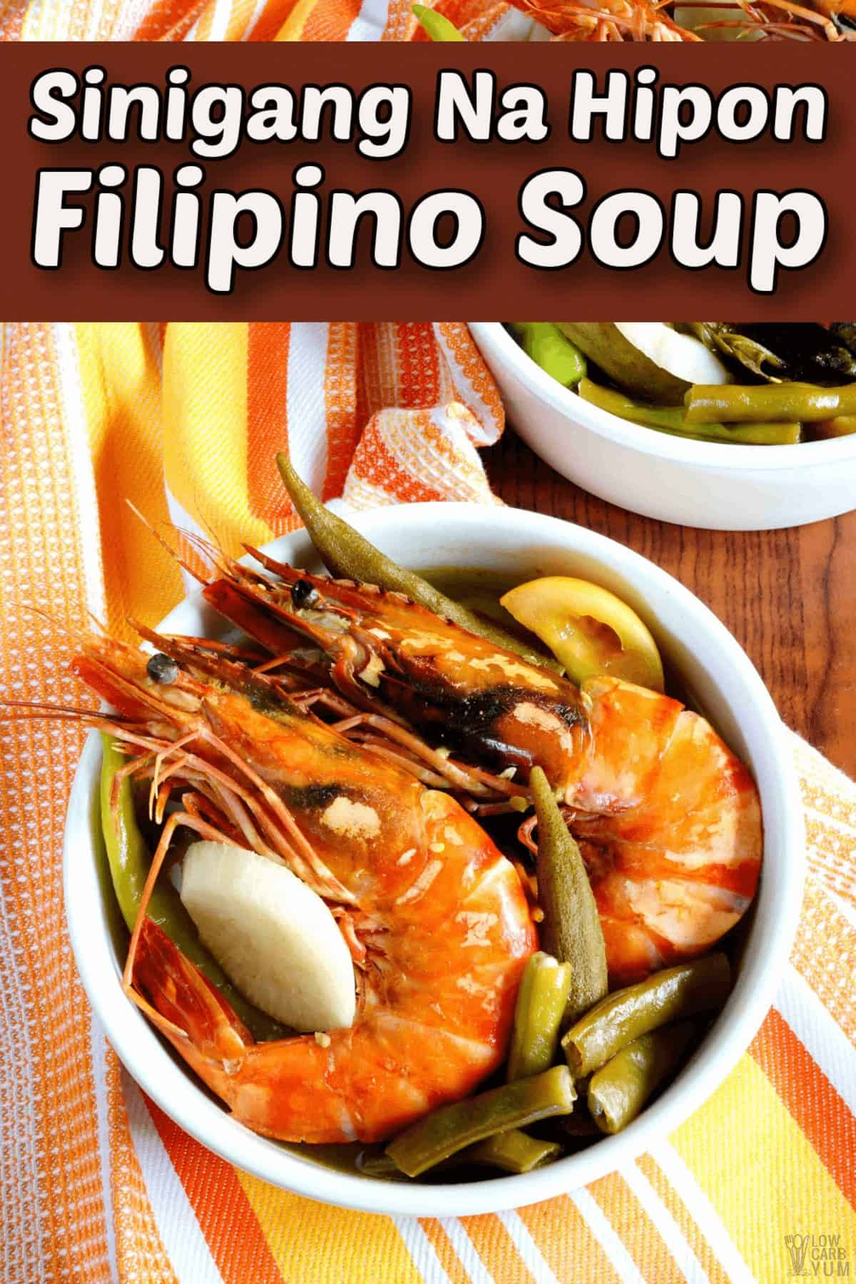 sinigang na hipon filipino soup pintrest image