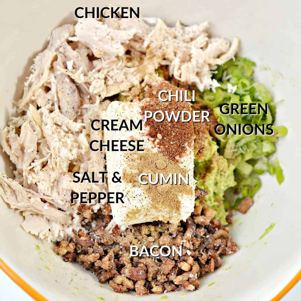 added ingredients for chicken stuffing
