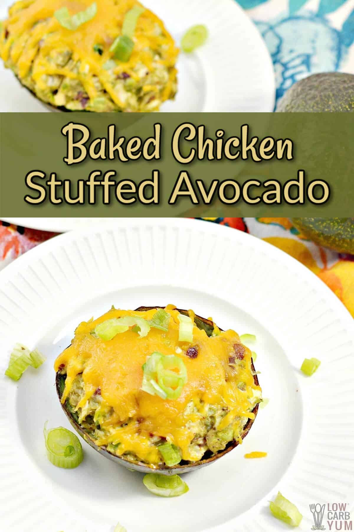 baked chicken stuffed avocado cover image