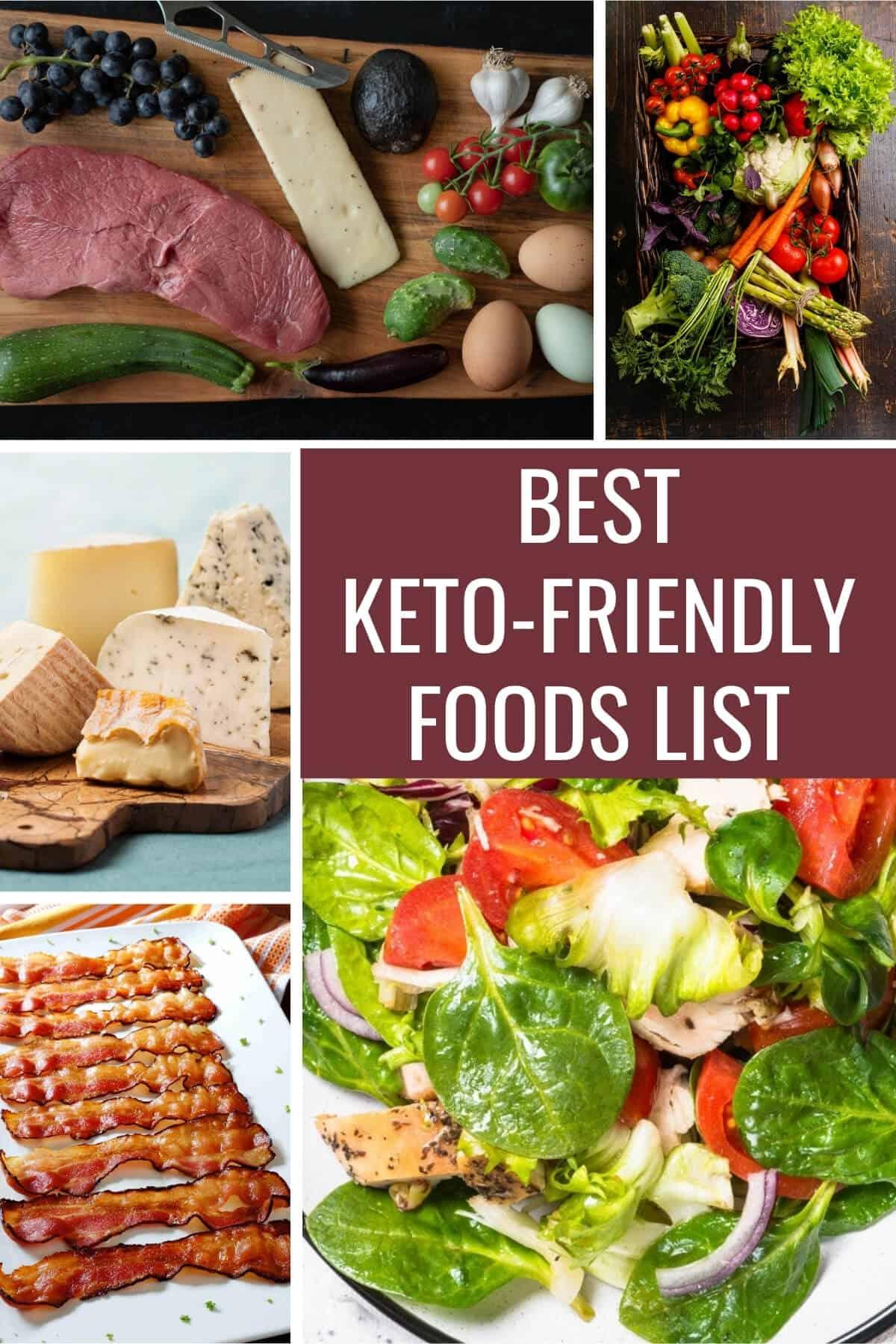 best keto friendly foods list pinterest image