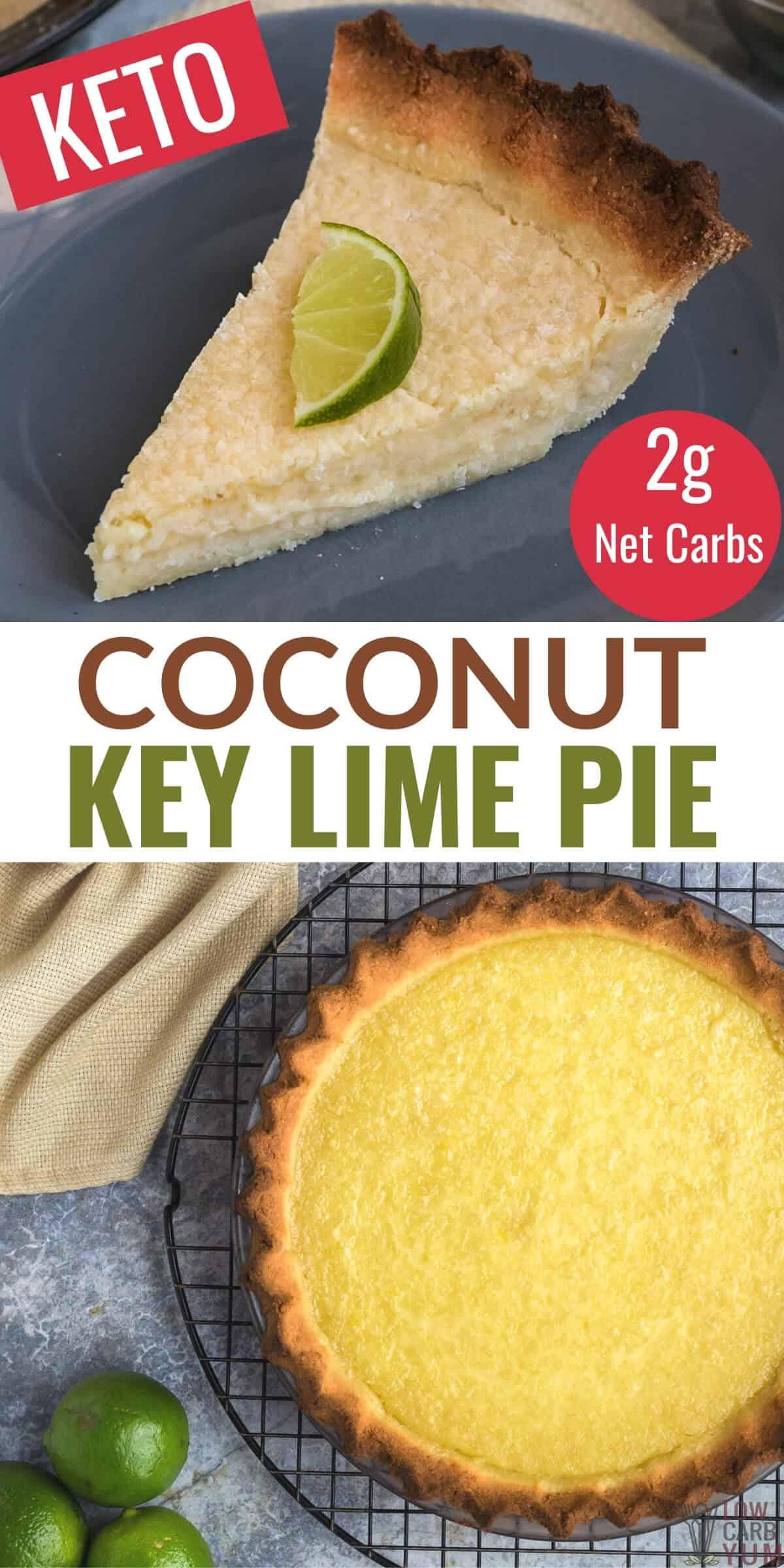 coconut key lime pie pinterest image