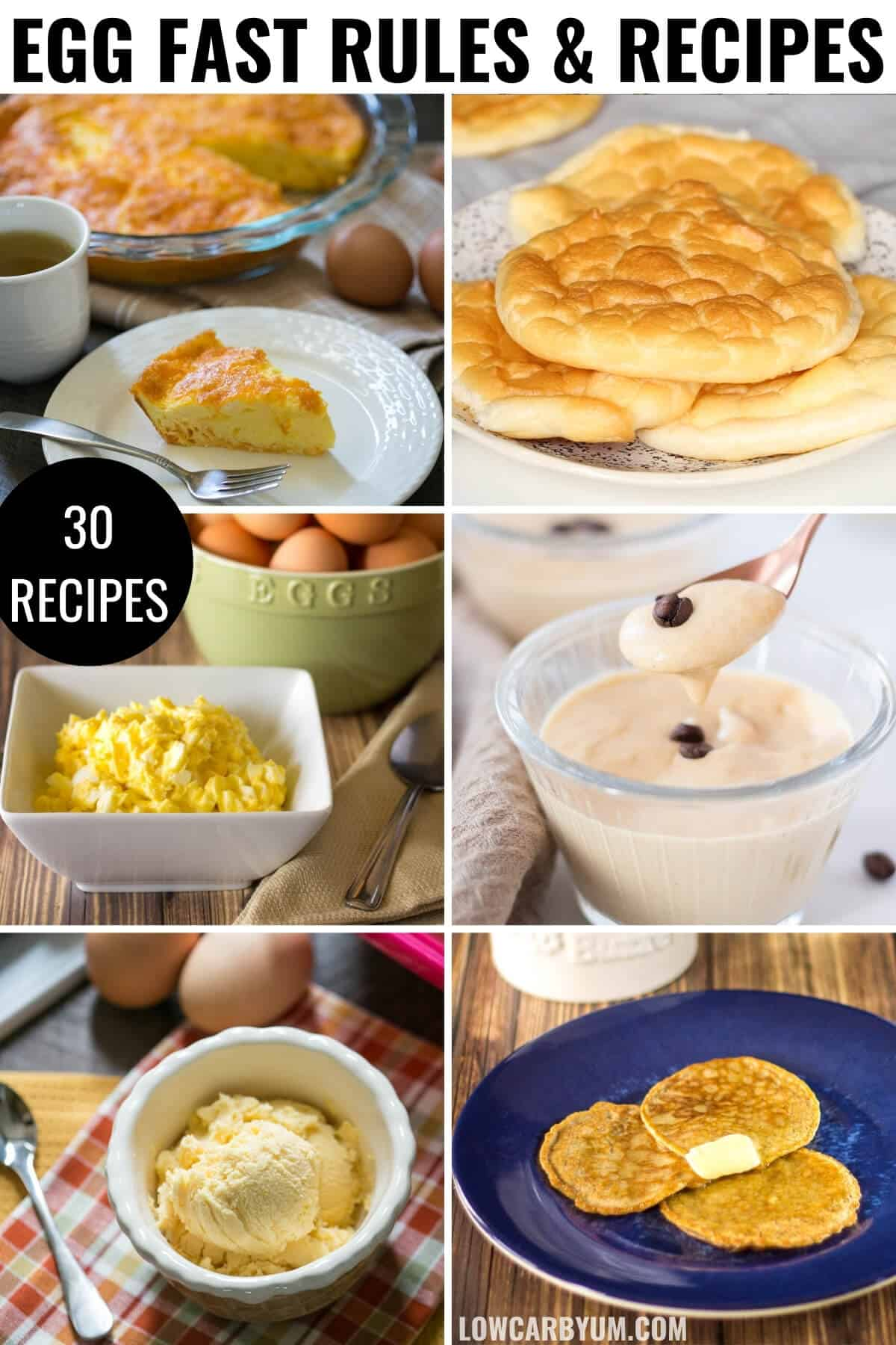 keto egg fast diet recipes cover image