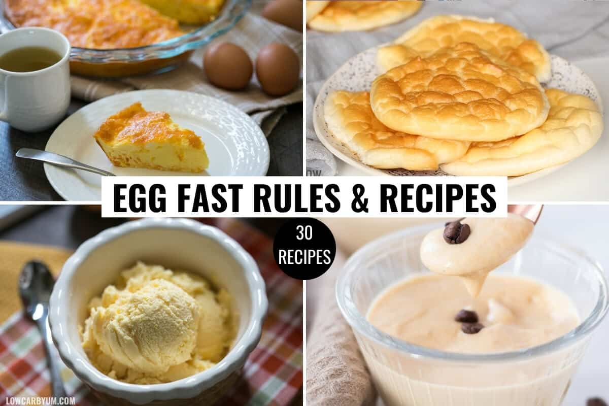 keto egg fast diet recipes feature image