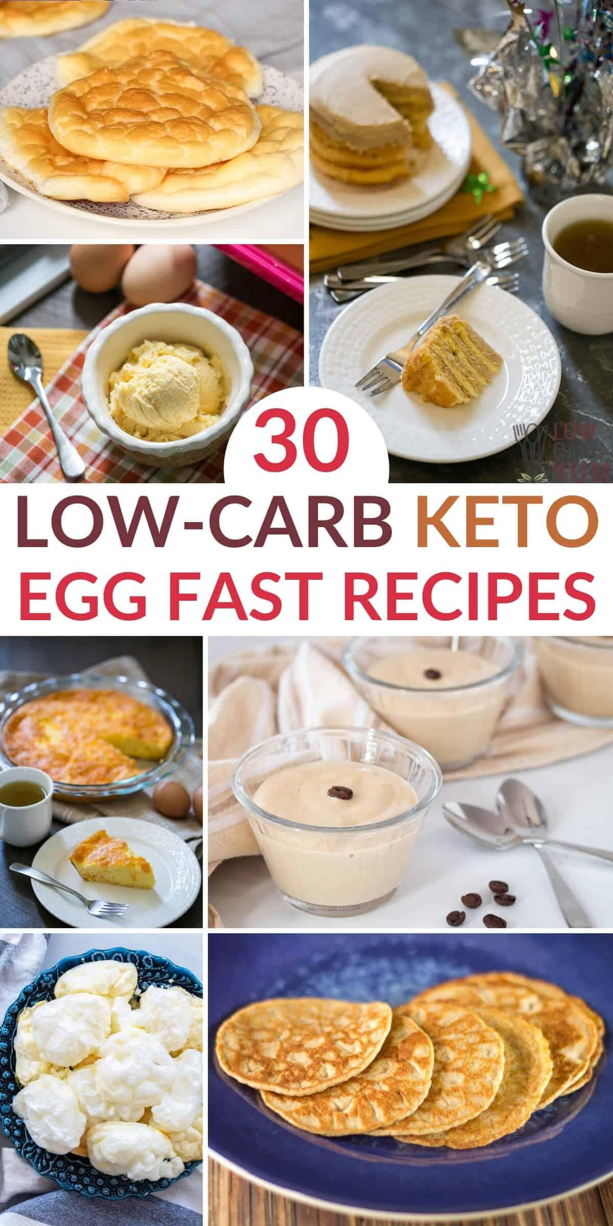 keto egg fast diet recipes pinterest image