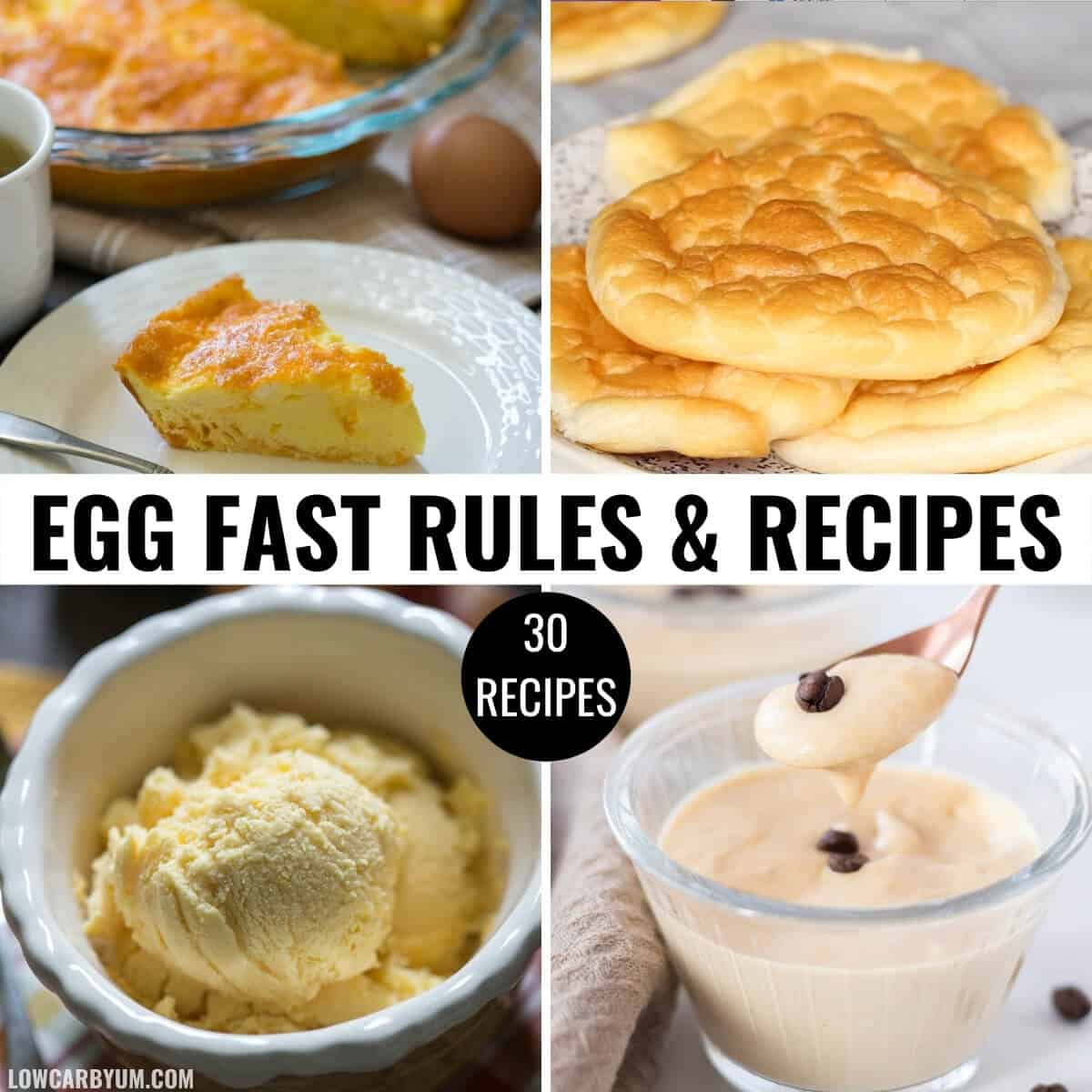 keto egg fast diet recipes square feature image