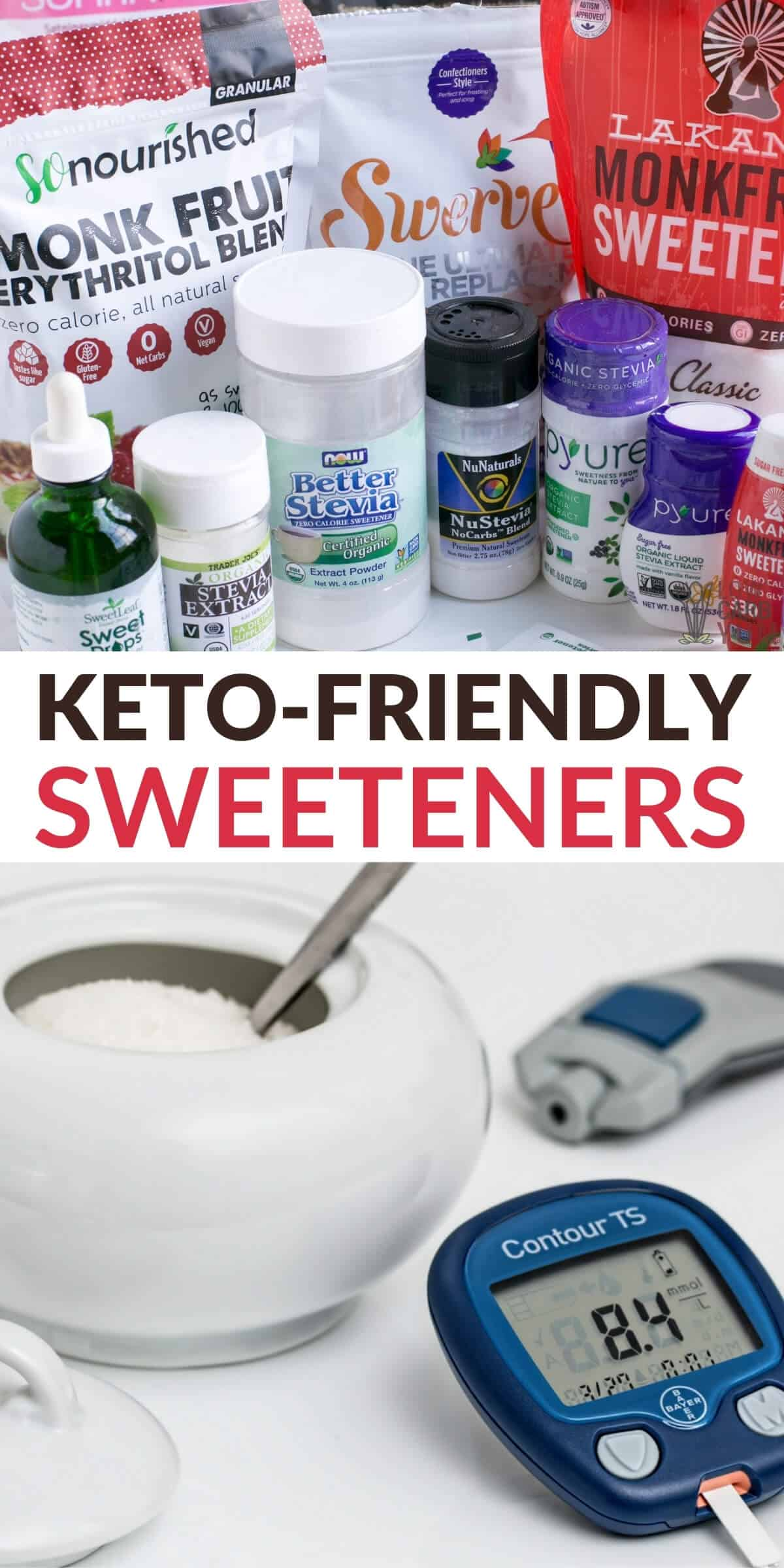 keto-friendly sweetener sugar substitutes
