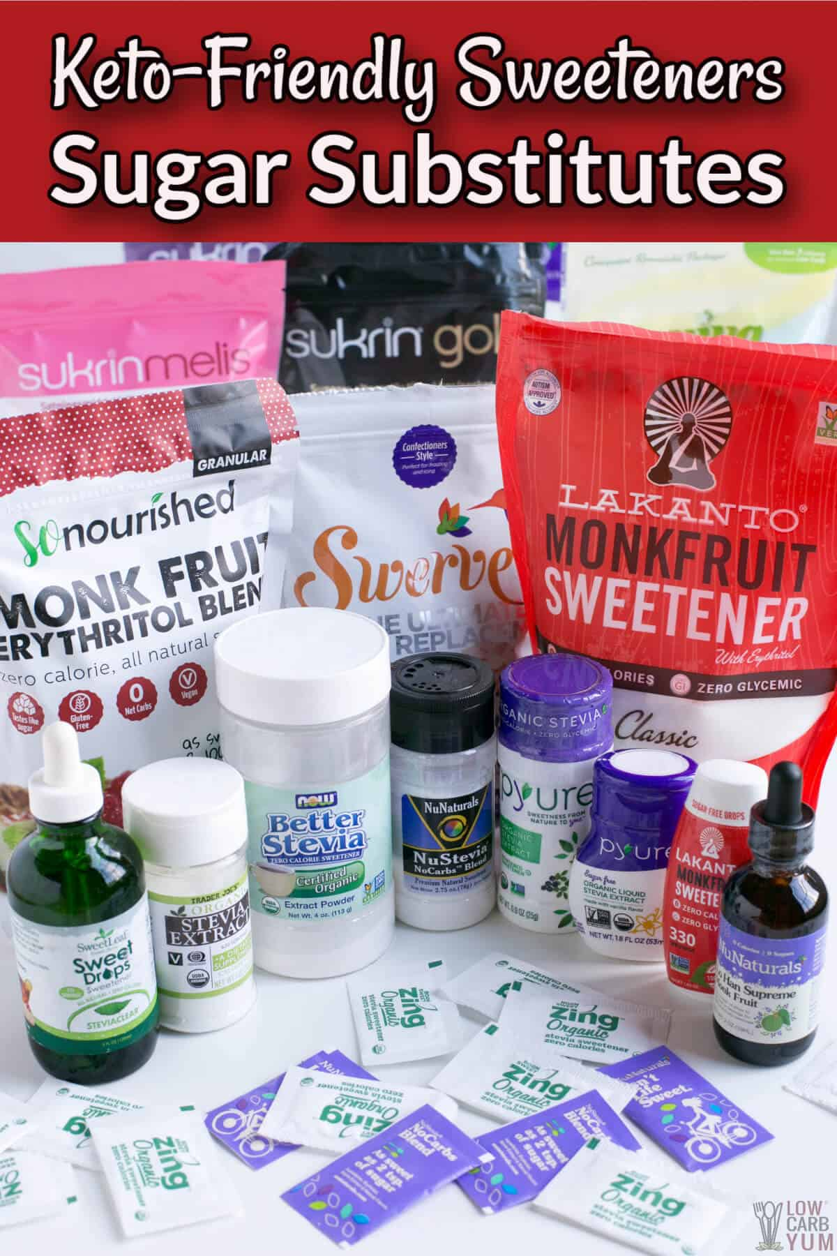 keto-friendly sweeteners sugar substitutes