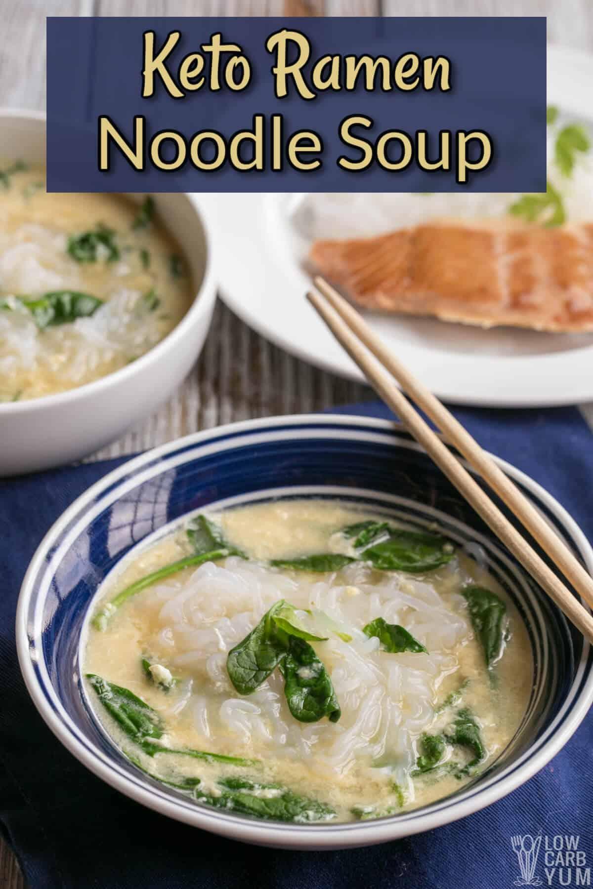 keto ramen noodle soup cover image
