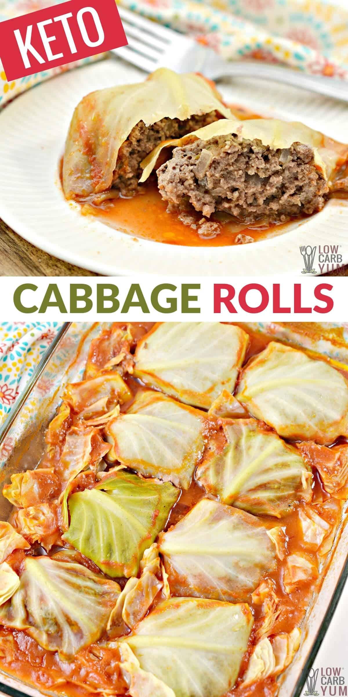 keto cabbage rolls pinterest image