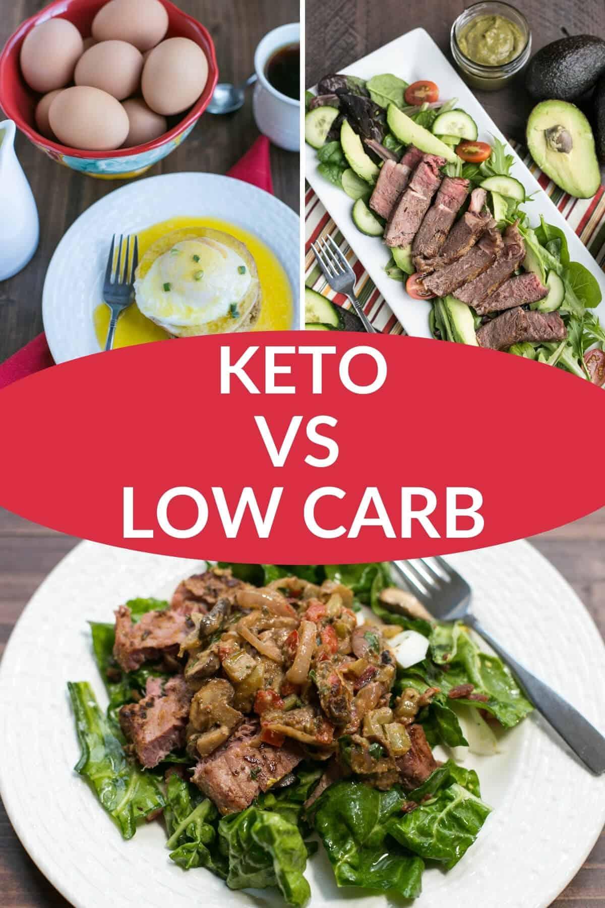 keto vs low carb pinterest image