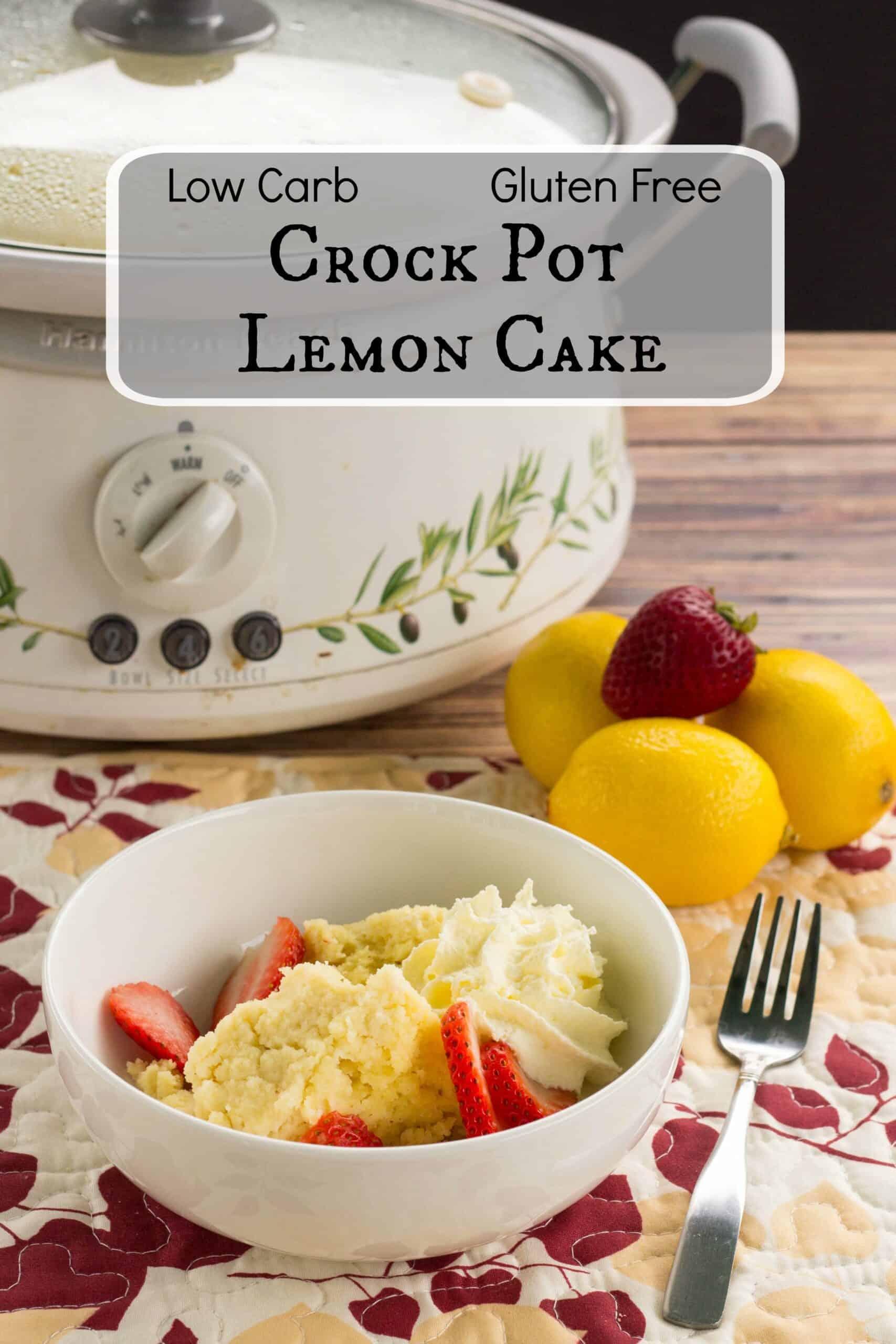 crock pot lemon cake dessert pintrest image