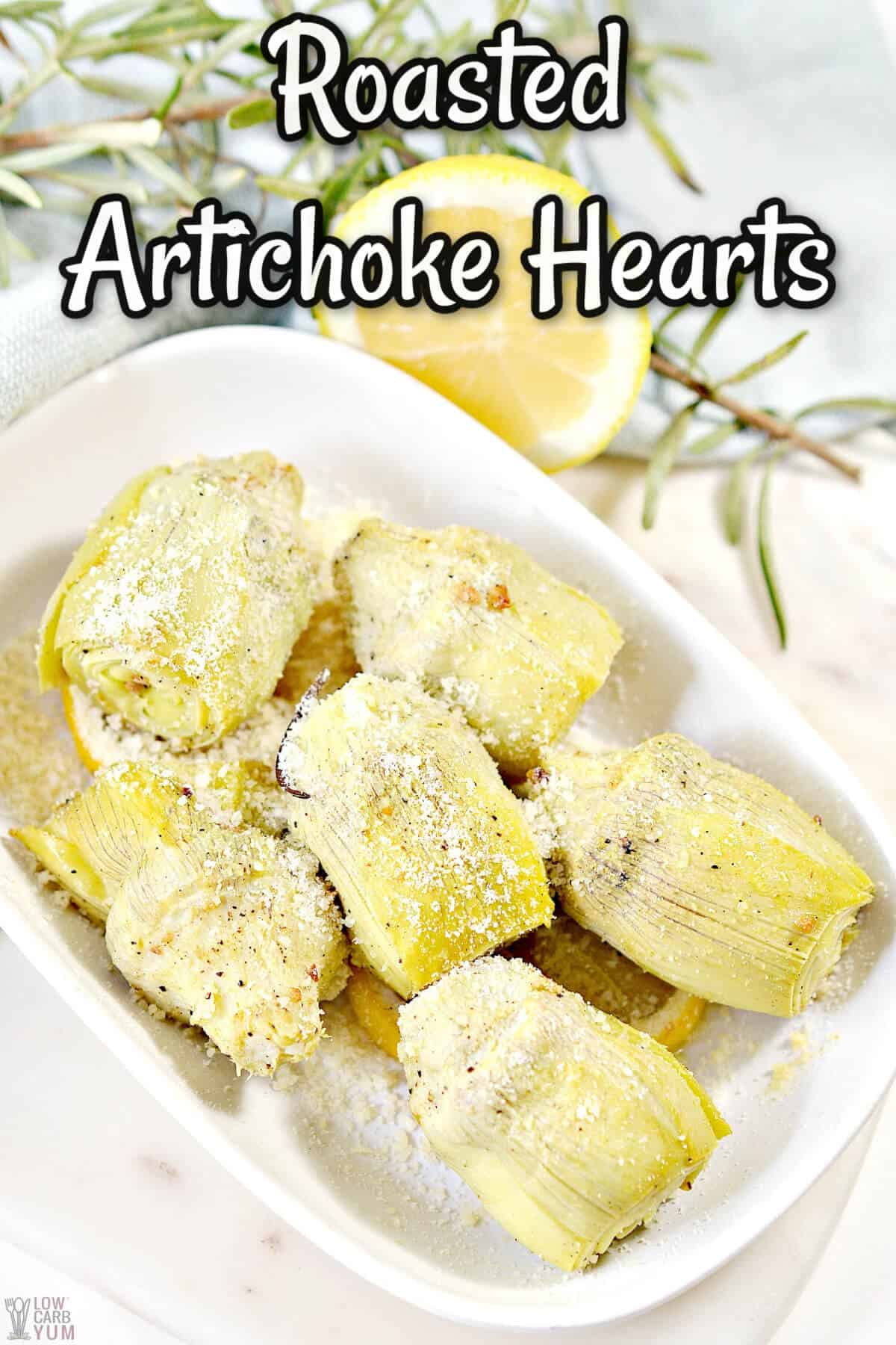 roasted artichoke hearts recipe cover image