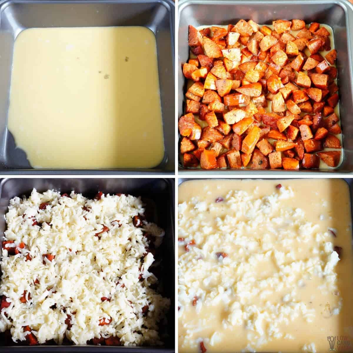 egg casserole bake recipe steps
