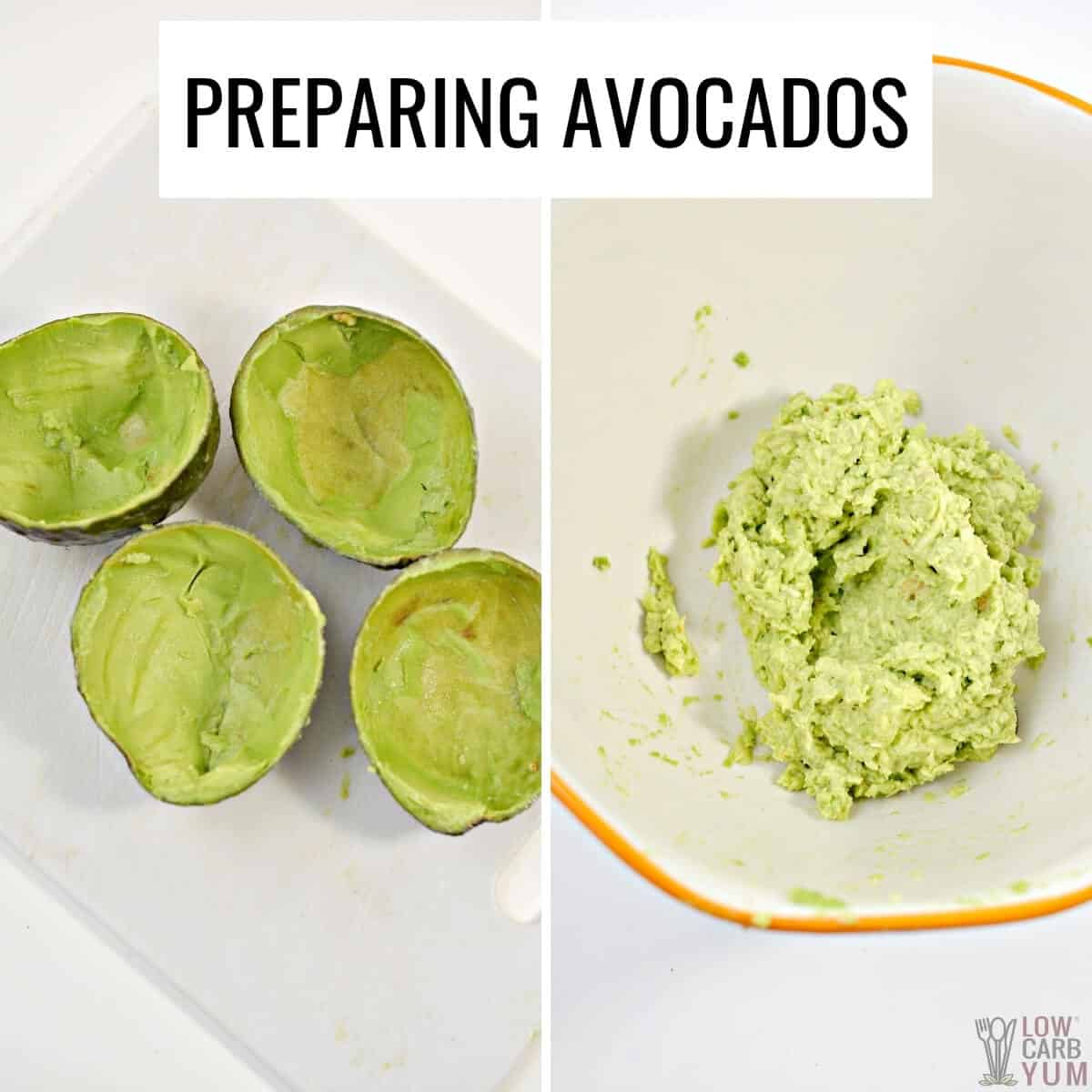 preparing the avocado
