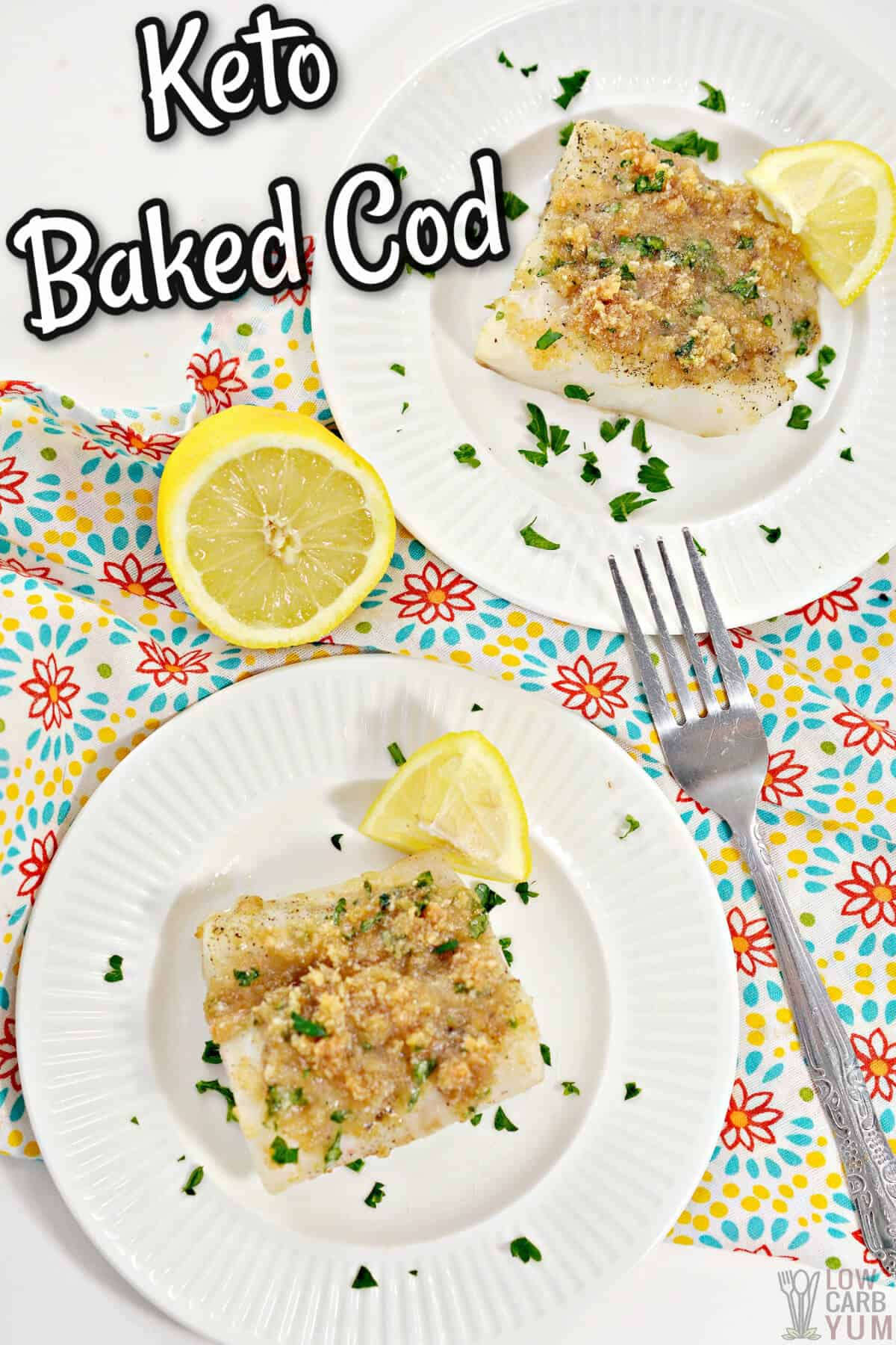 baked cod recipe keto cover image