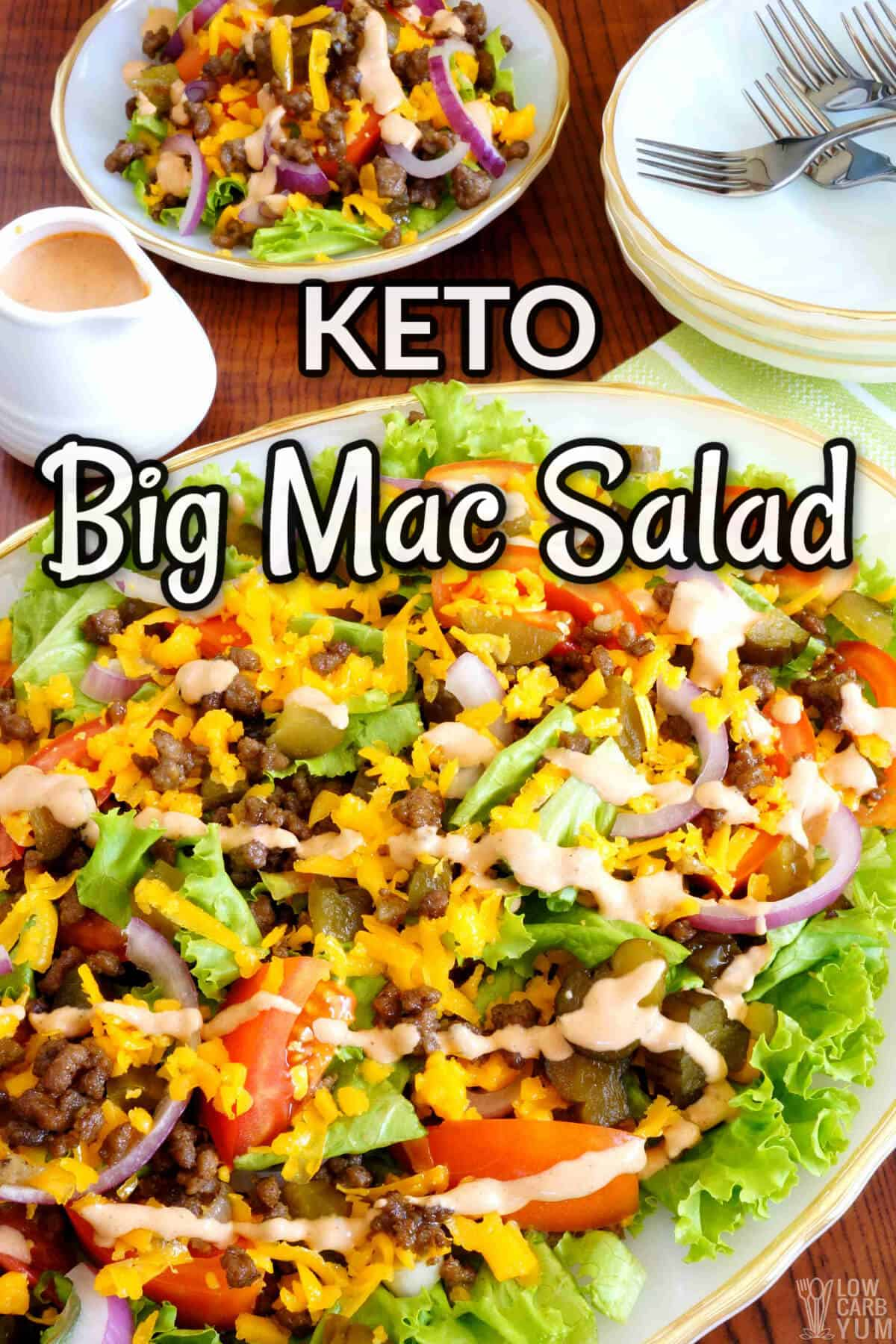 big mac salad pinterest image